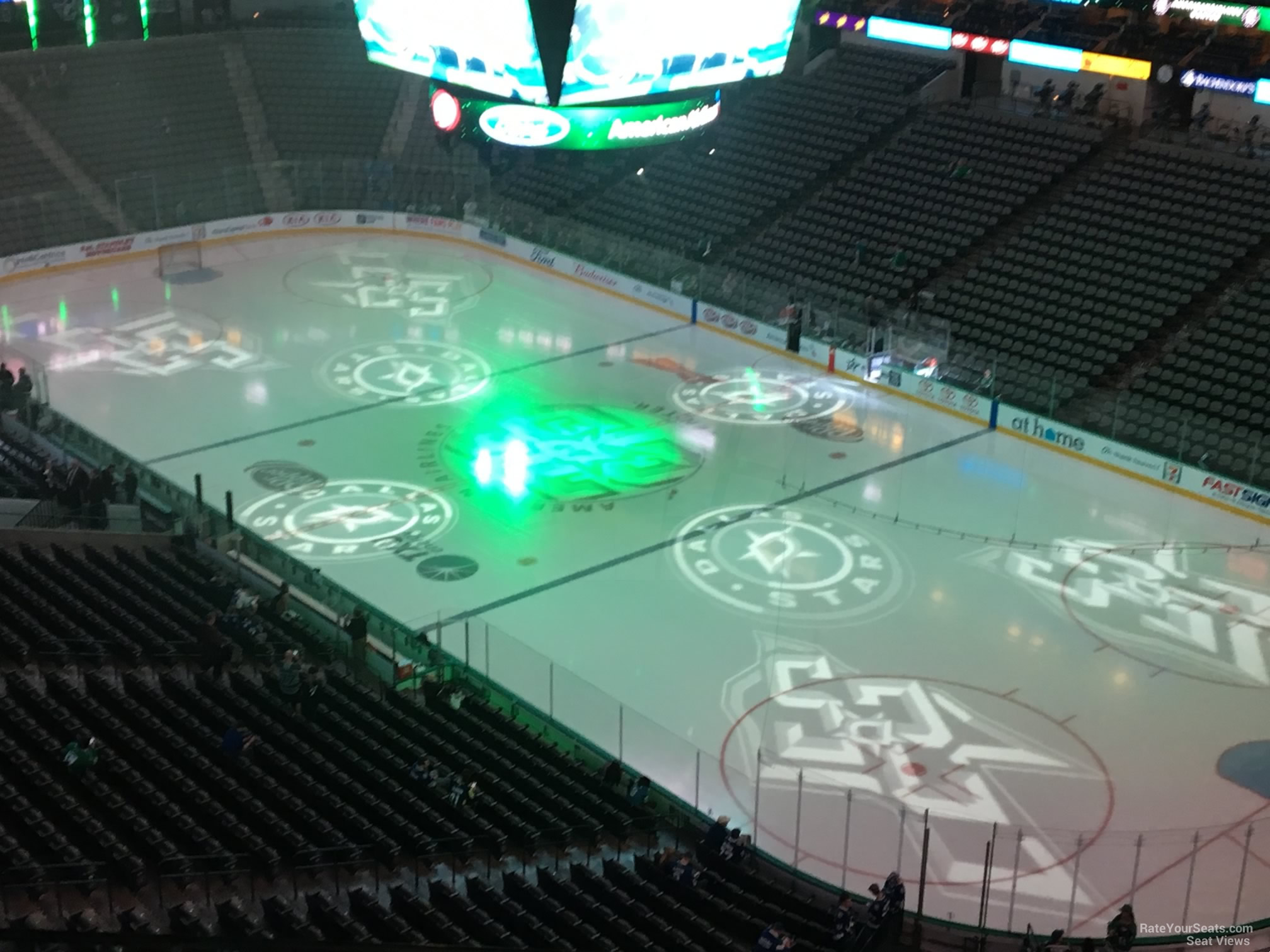 Dallas Stars Seat View for American Airlines Center Section 322, Row E