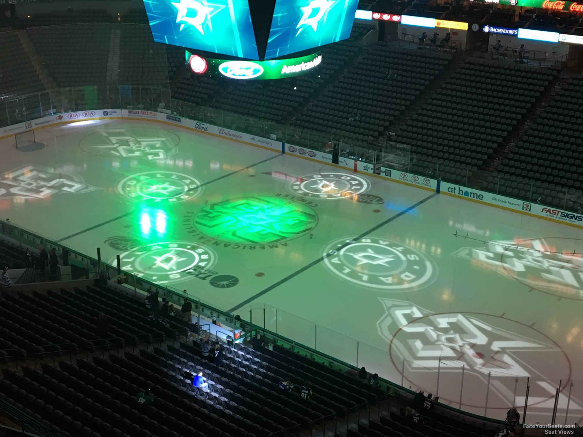 Dallas Stars Seat View for American Airlines Center Section 323, Row E