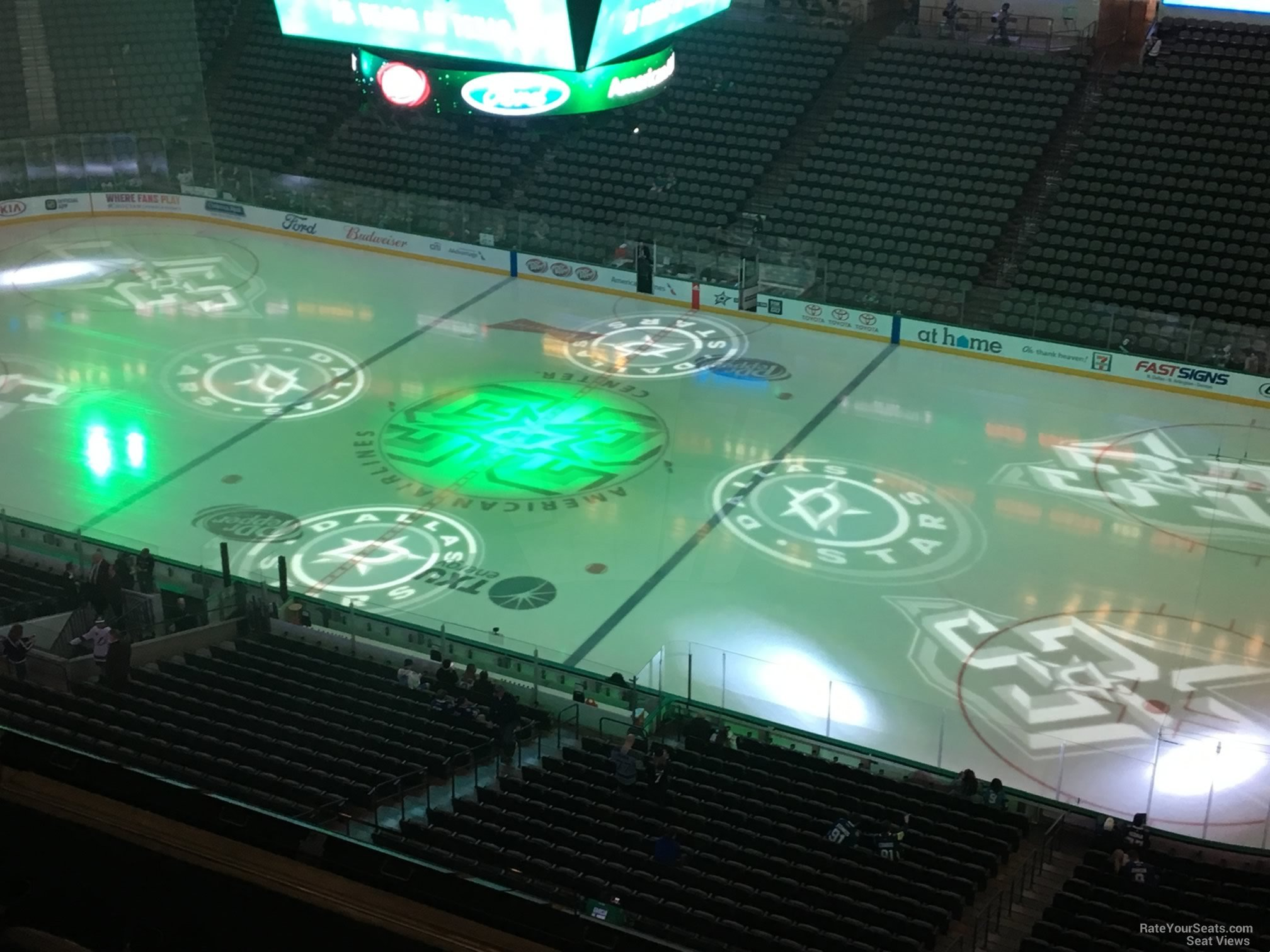 Dallas Stars Seat View for American Airlines Center Section 324, Row E