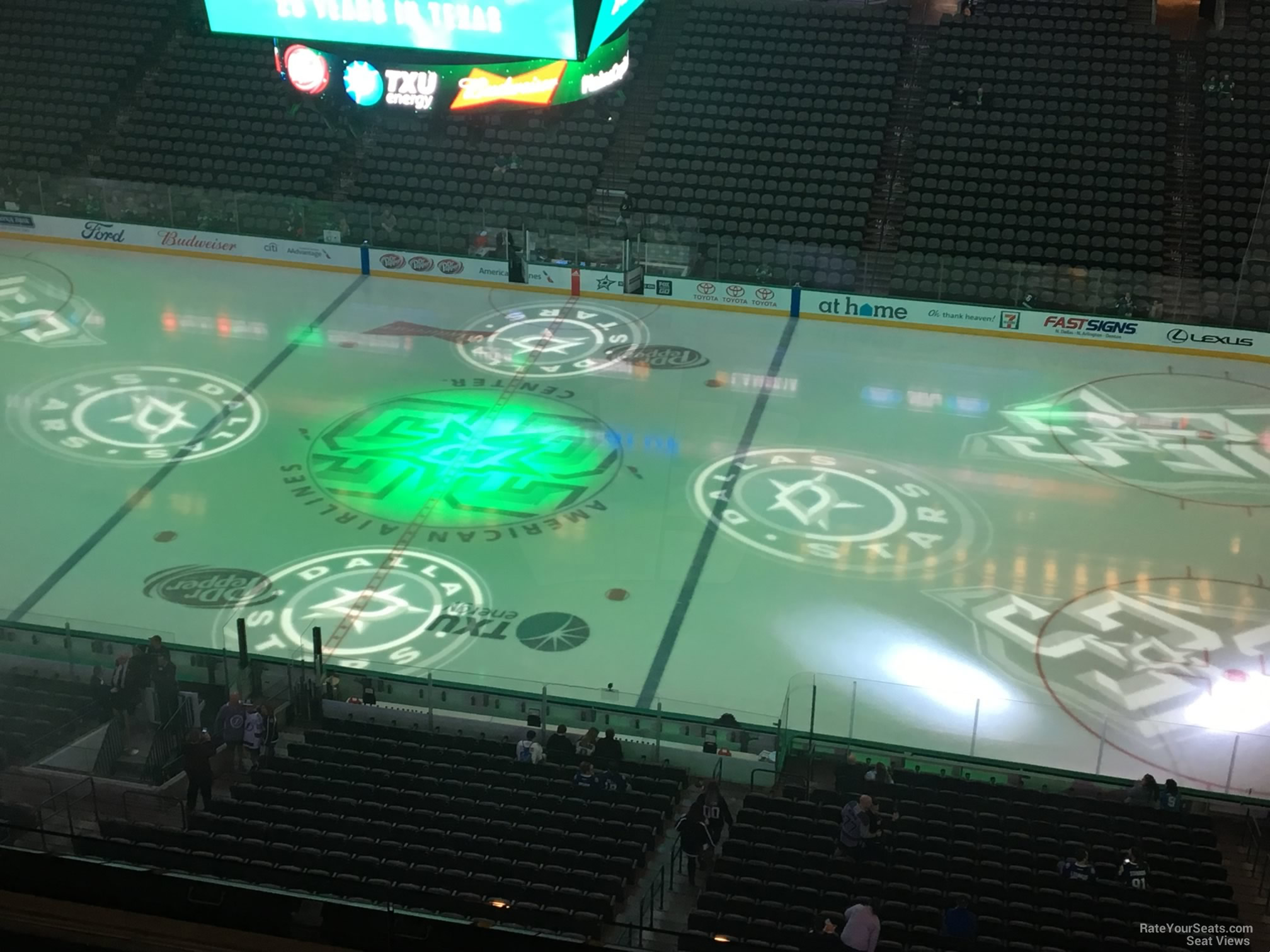 Dallas Stars Seat View for American Airlines Center Section 325, Row E