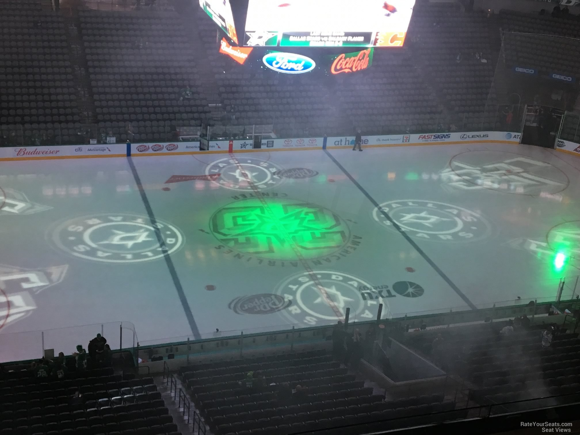 Dallas Stars Seat View for American Airlines Center Section 328, Row D