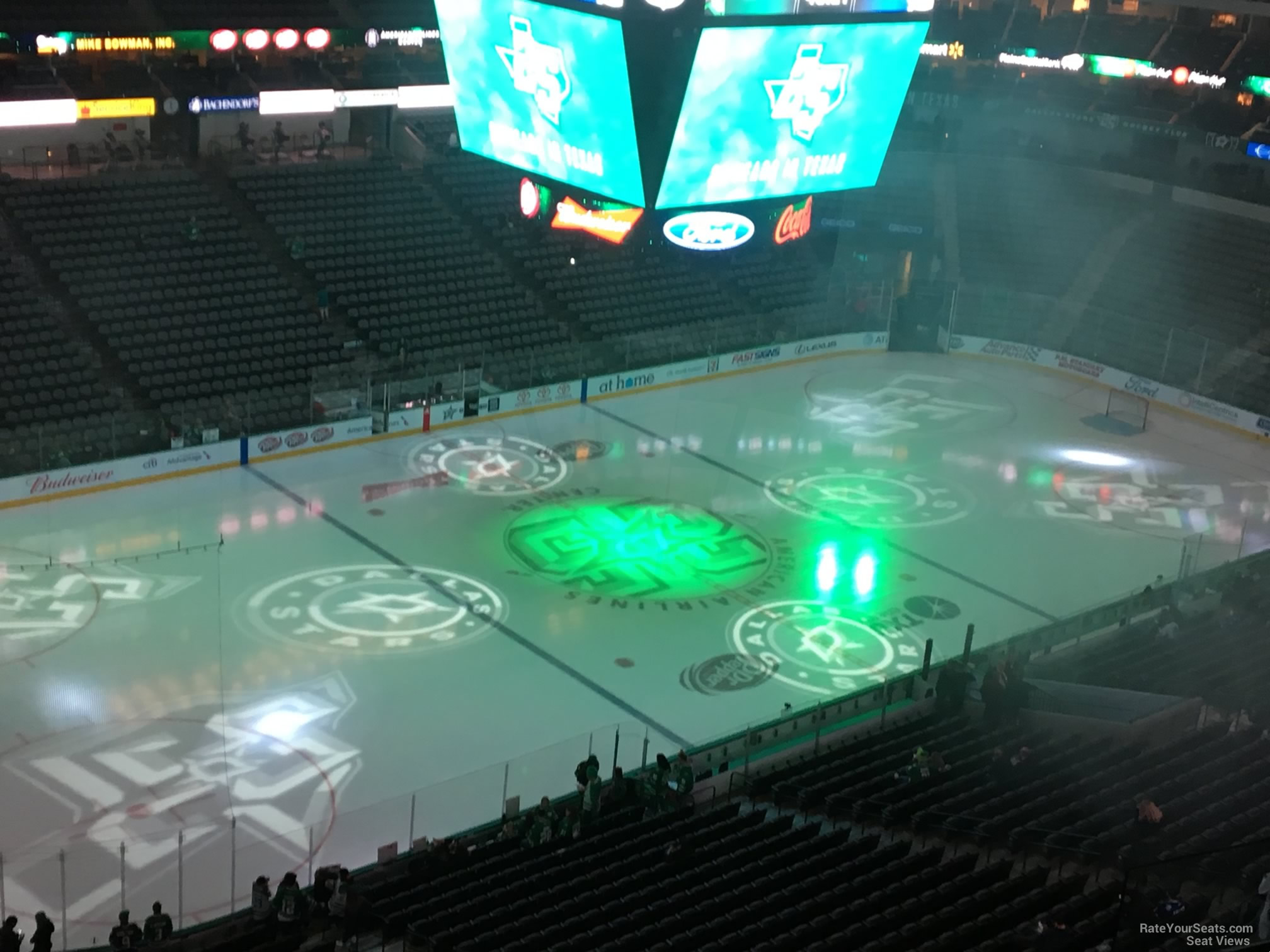 Dallas Stars Seat View for American Airlines Center Section 330, Row E