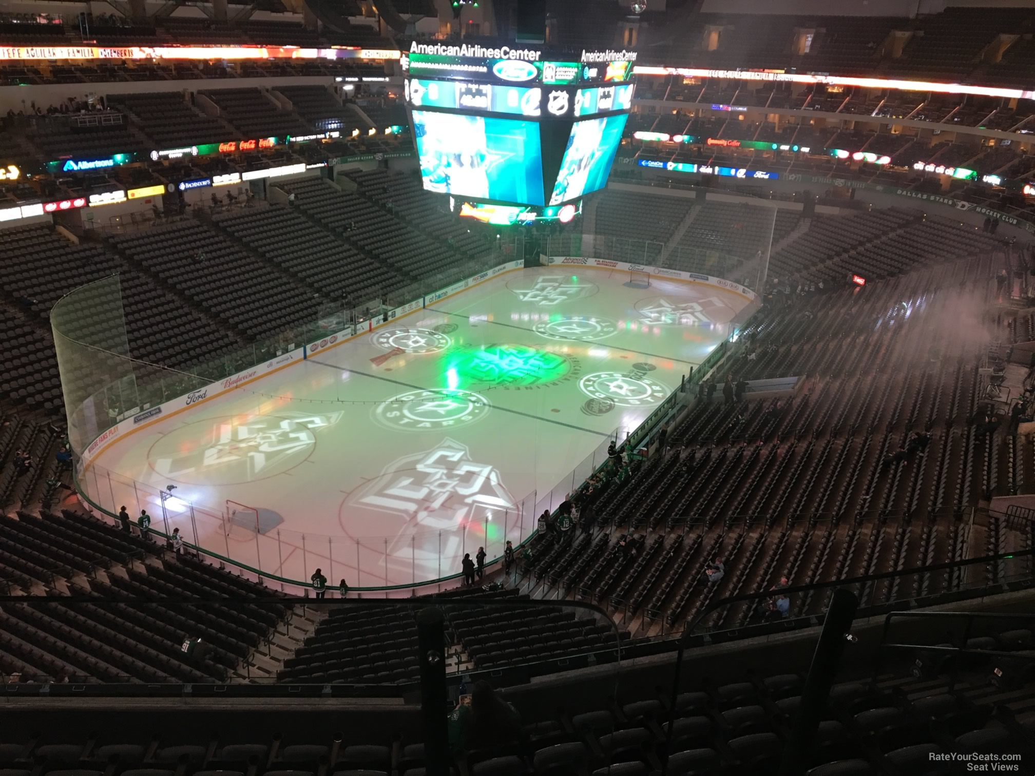 Dallas Stars Seat View for American Airlines Center Section 332, Row EE
