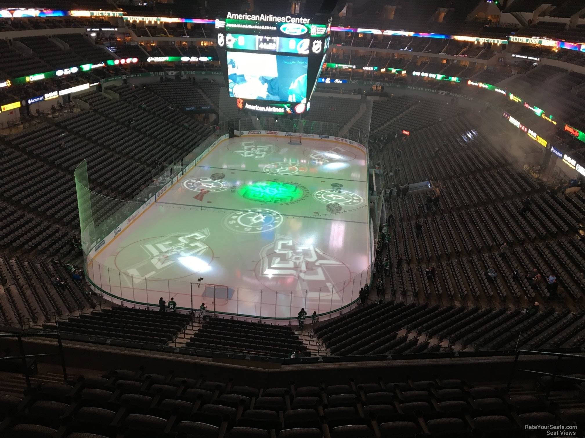 Dallas Stars Seat View for American Airlines Center Section 334, Row EE