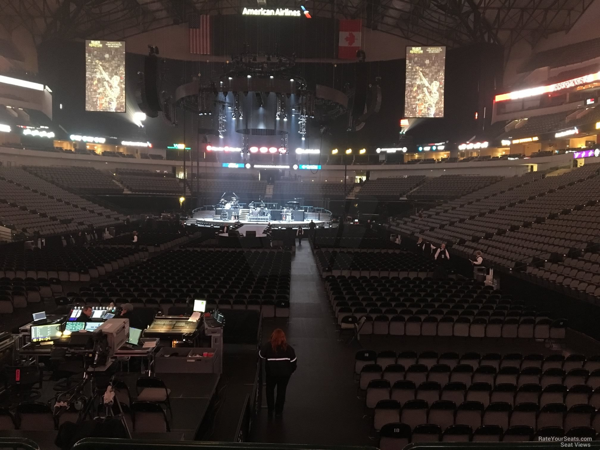 Concert Seat View for American Airlines Center Section 112, Row D