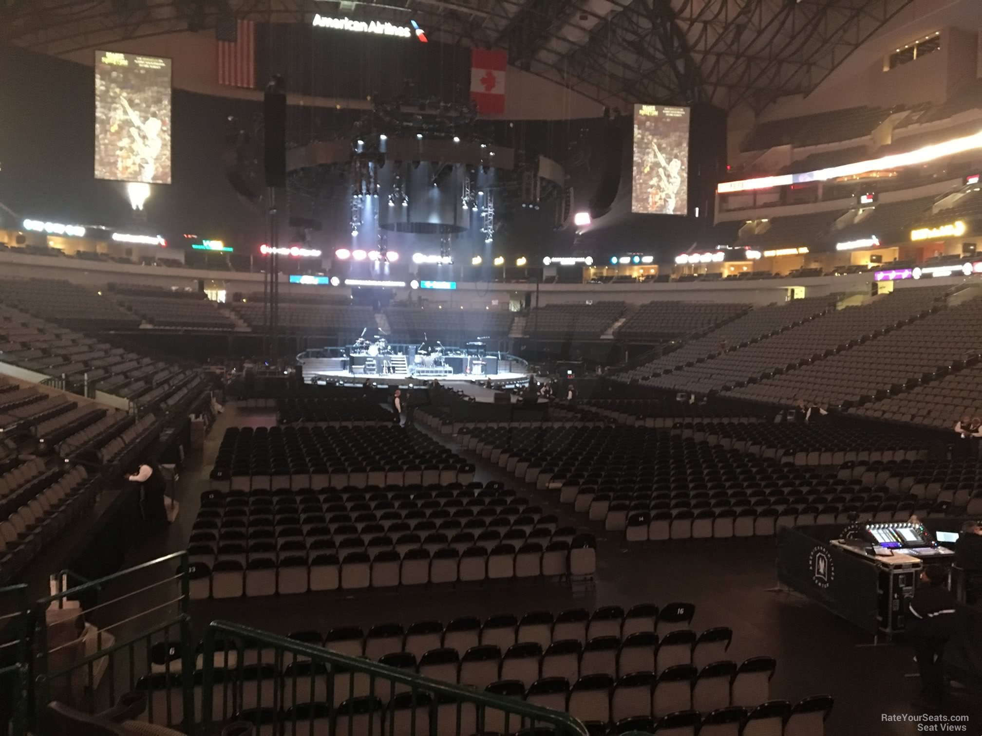Concert Seat View for American Airlines Center Section 114, Row D