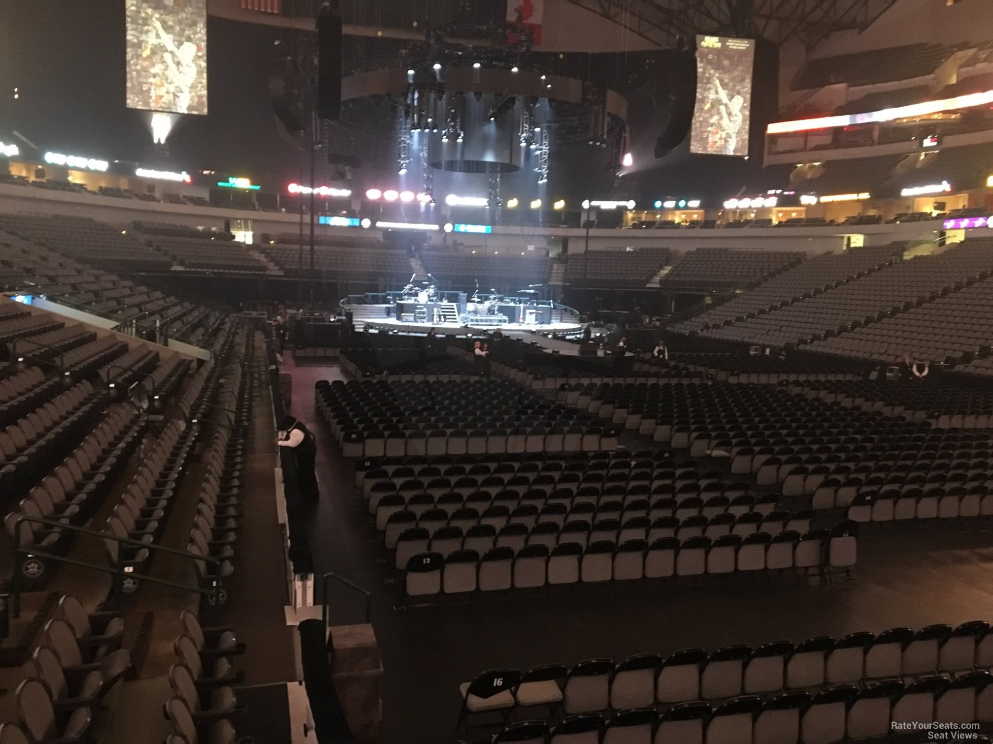 Concert Seat View for American Airlines Center Section 115, Row D