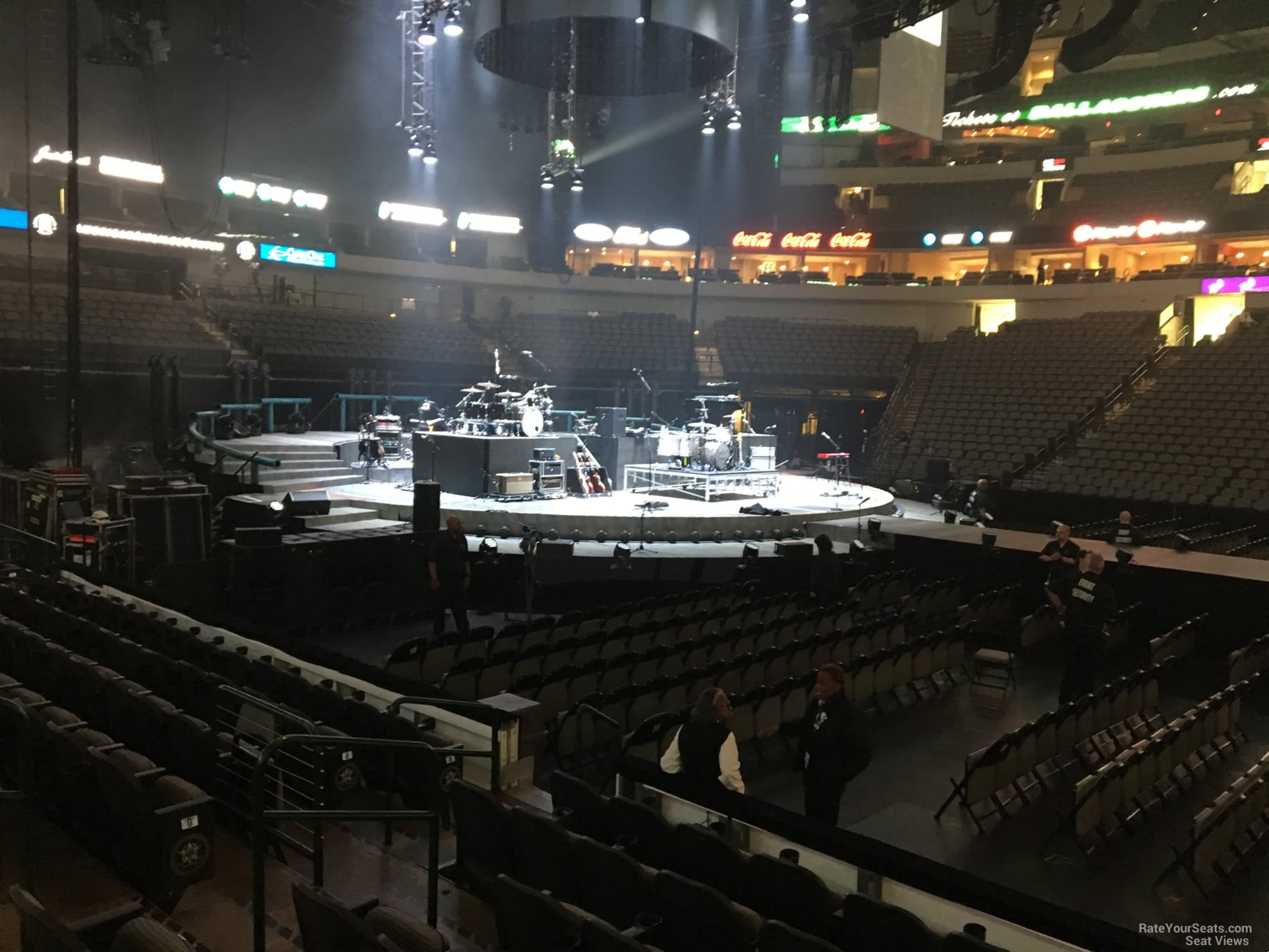 Concert Seat View for American Airlines Center Section 119, Row G