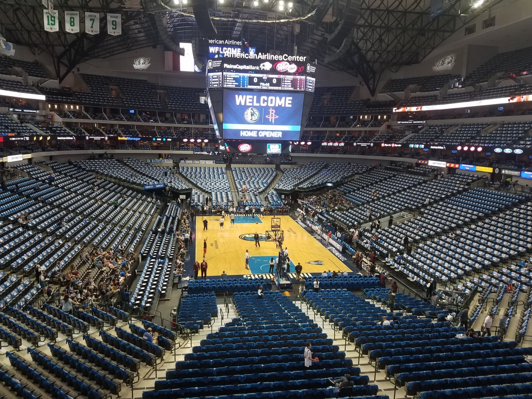 Dallas Mavericks Seat View for American Airlines Center Section 202, Row A