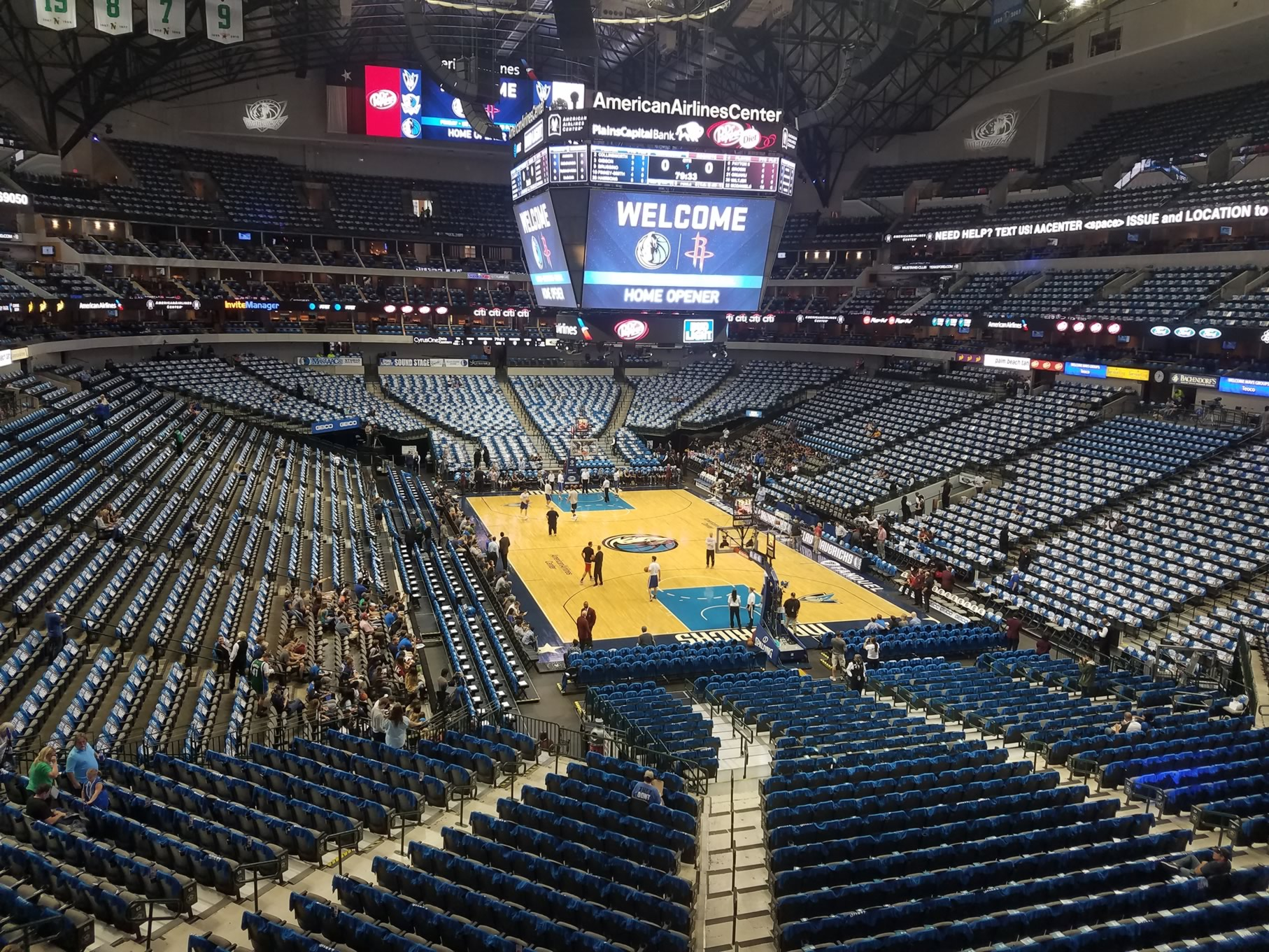 Dallas Mavericks Seat View for American Airlines Center Section 203, Row A