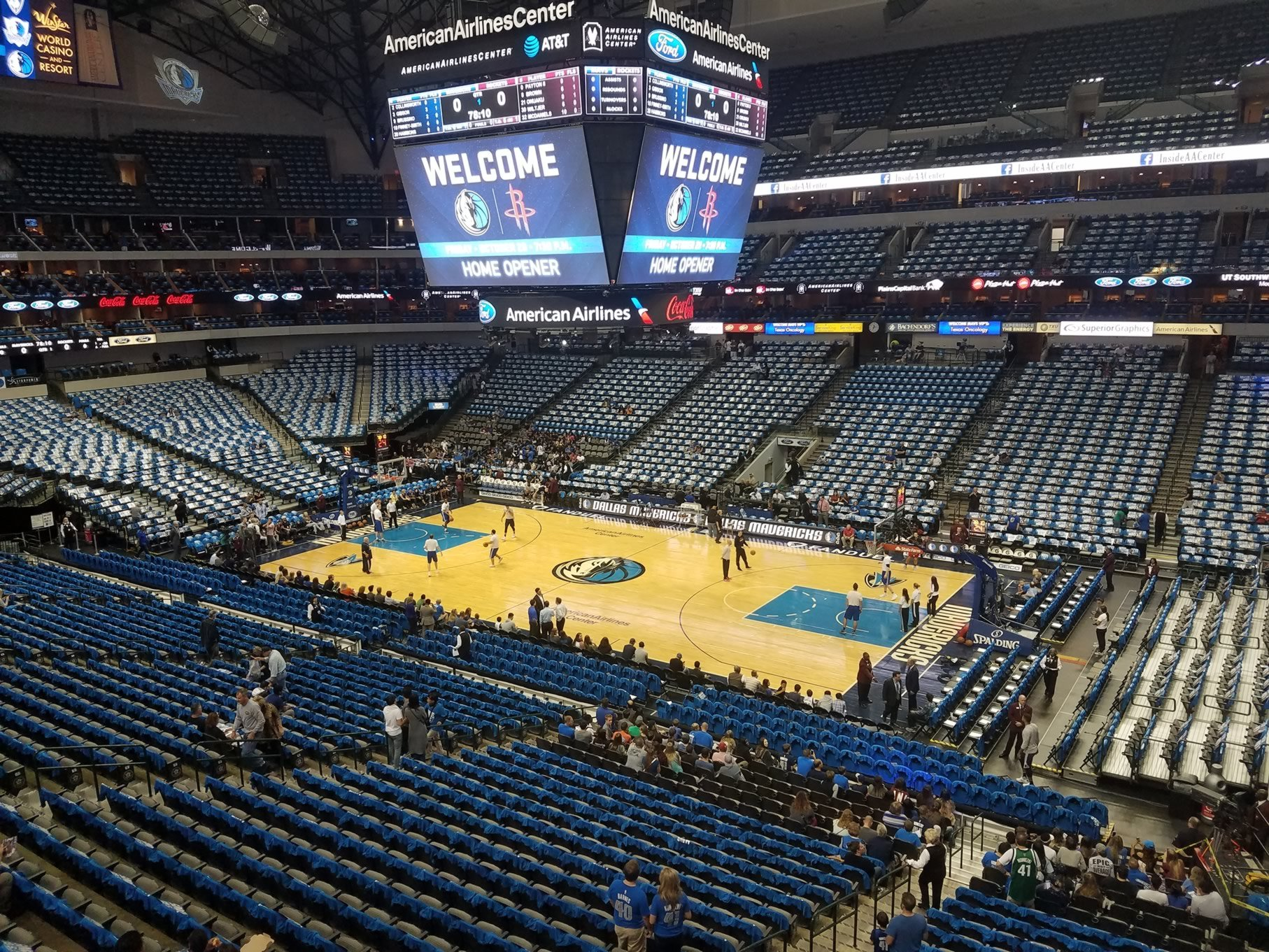Dallas Mavericks Seat View for American Airlines Center Section 207, Row A