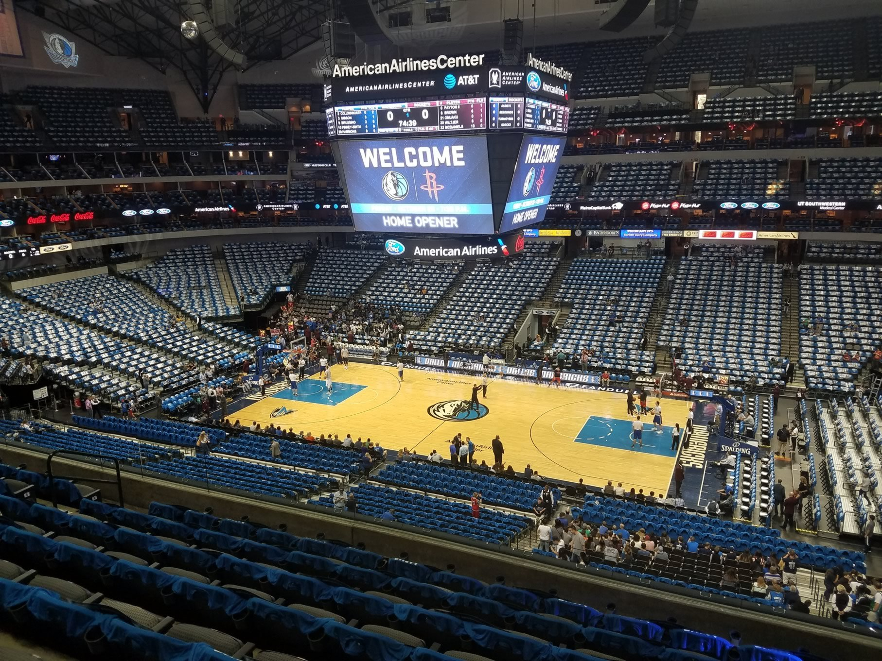American Airlines Center Section 106 Dallas Mavericks RateYourSeats
