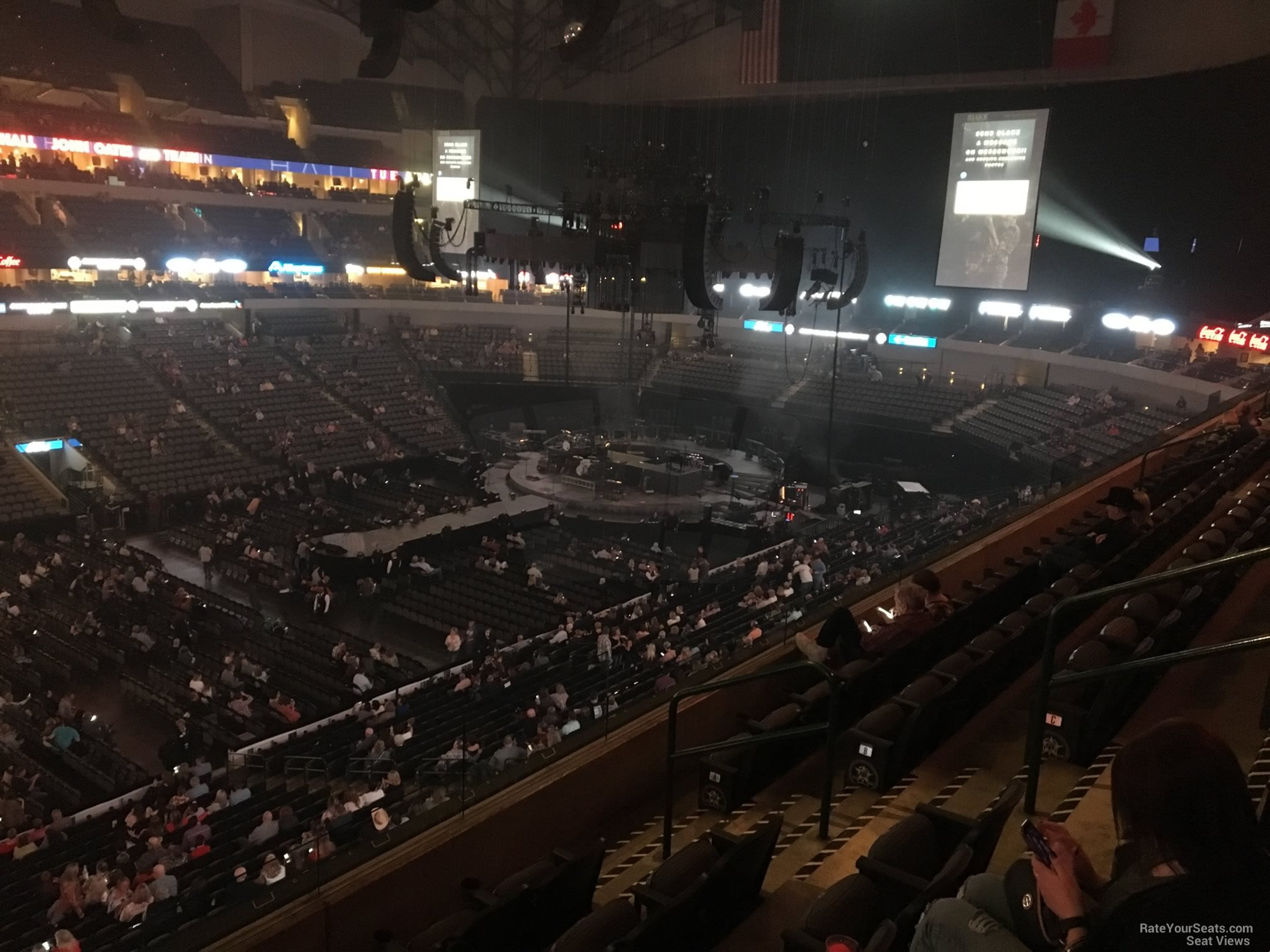 Concert Seat View for American Airlines Center Section 212, Row E