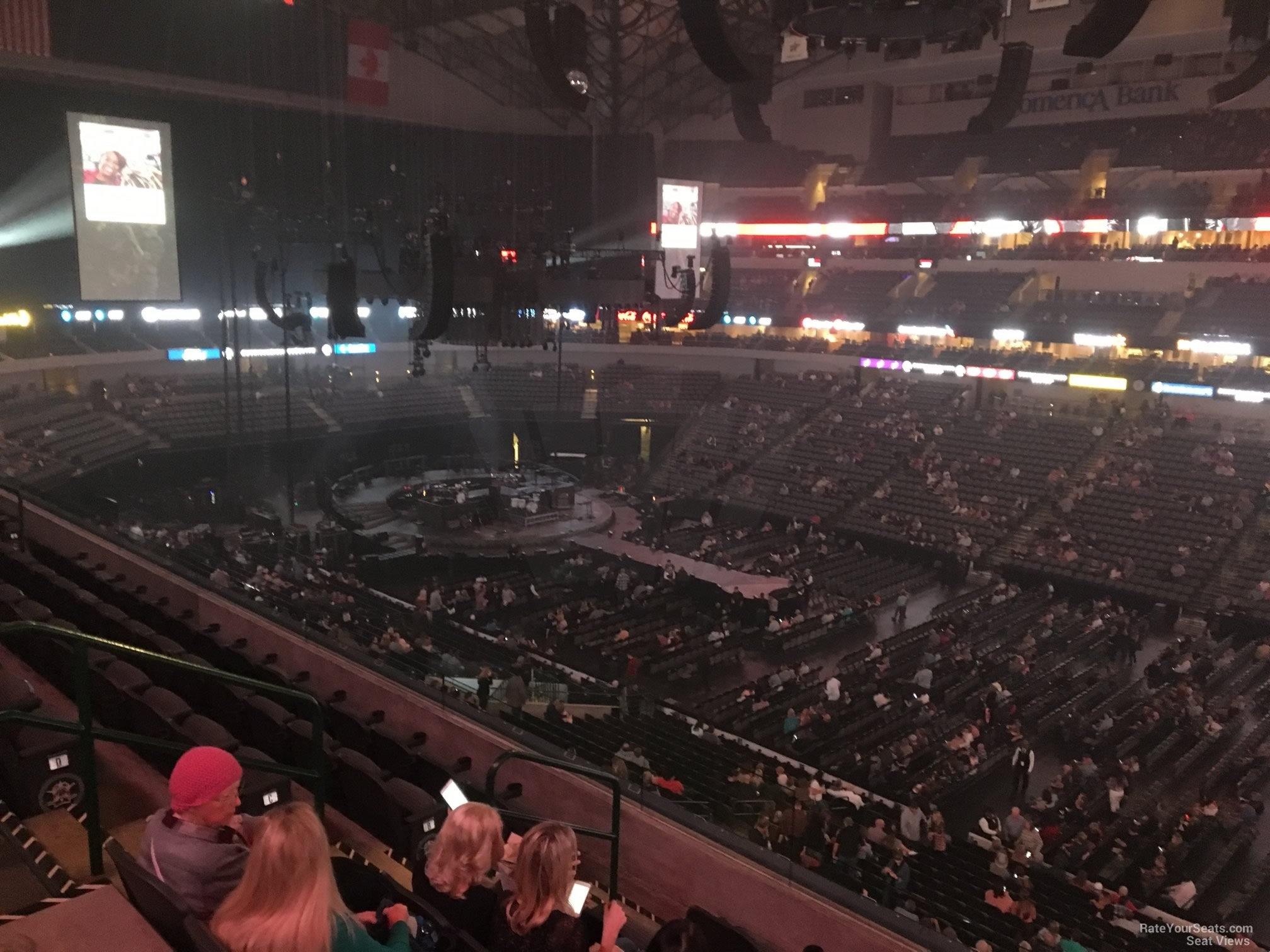 Concert Seat View for American Airlines Center Section 215, Row E