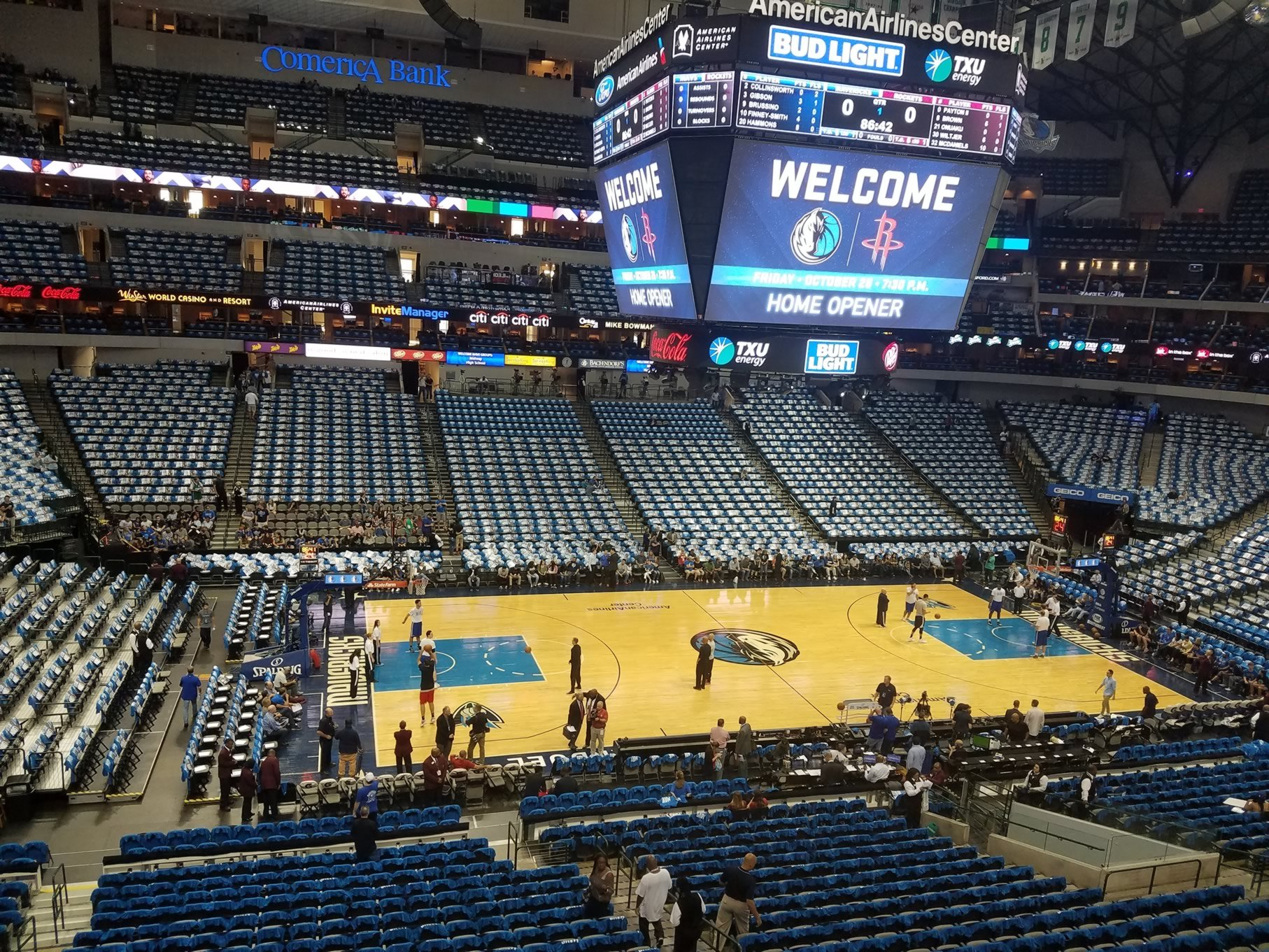 American Airlines Center Section 219 Dallas Mavericks