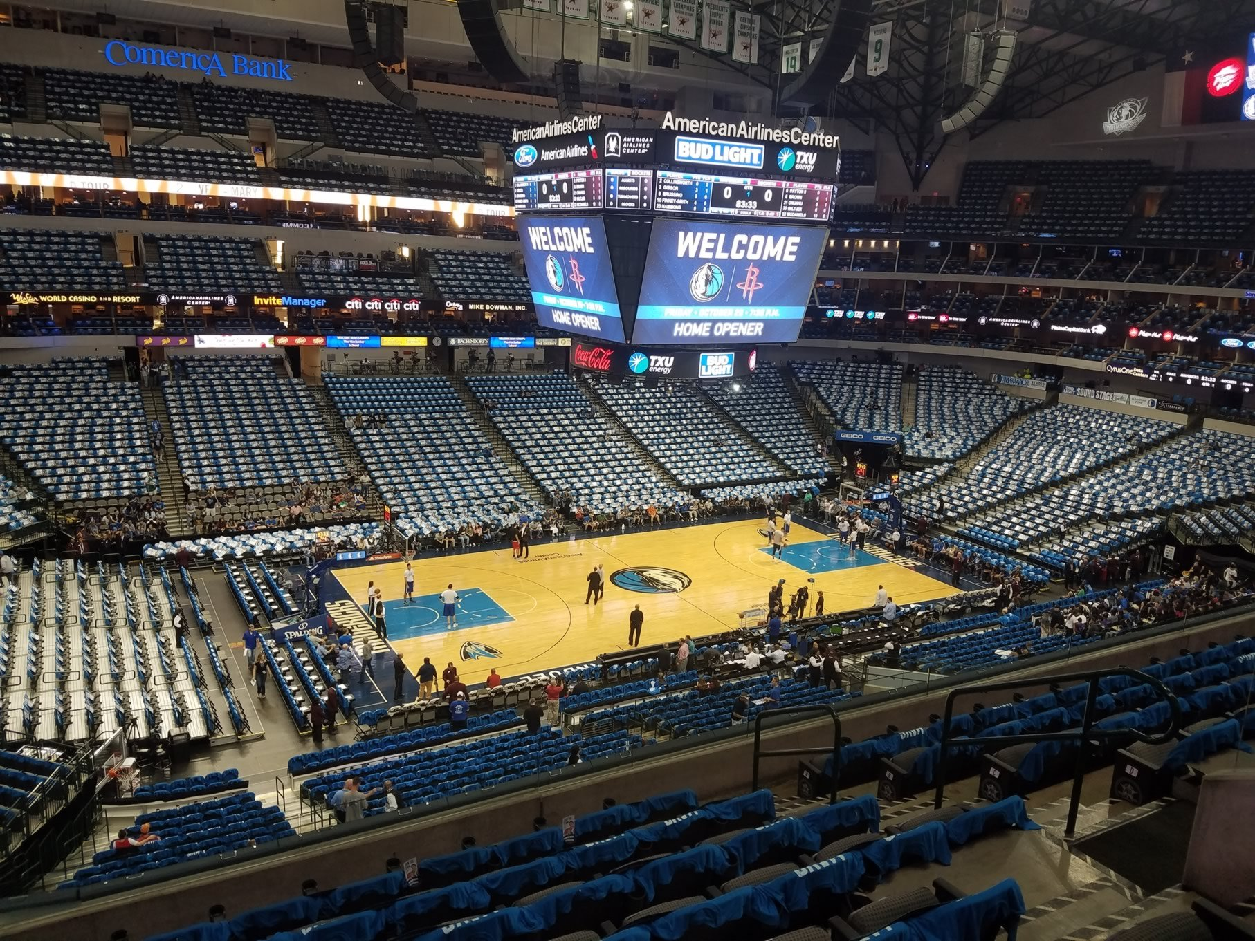 American Airlines Center Section 220 Dallas Mavericks