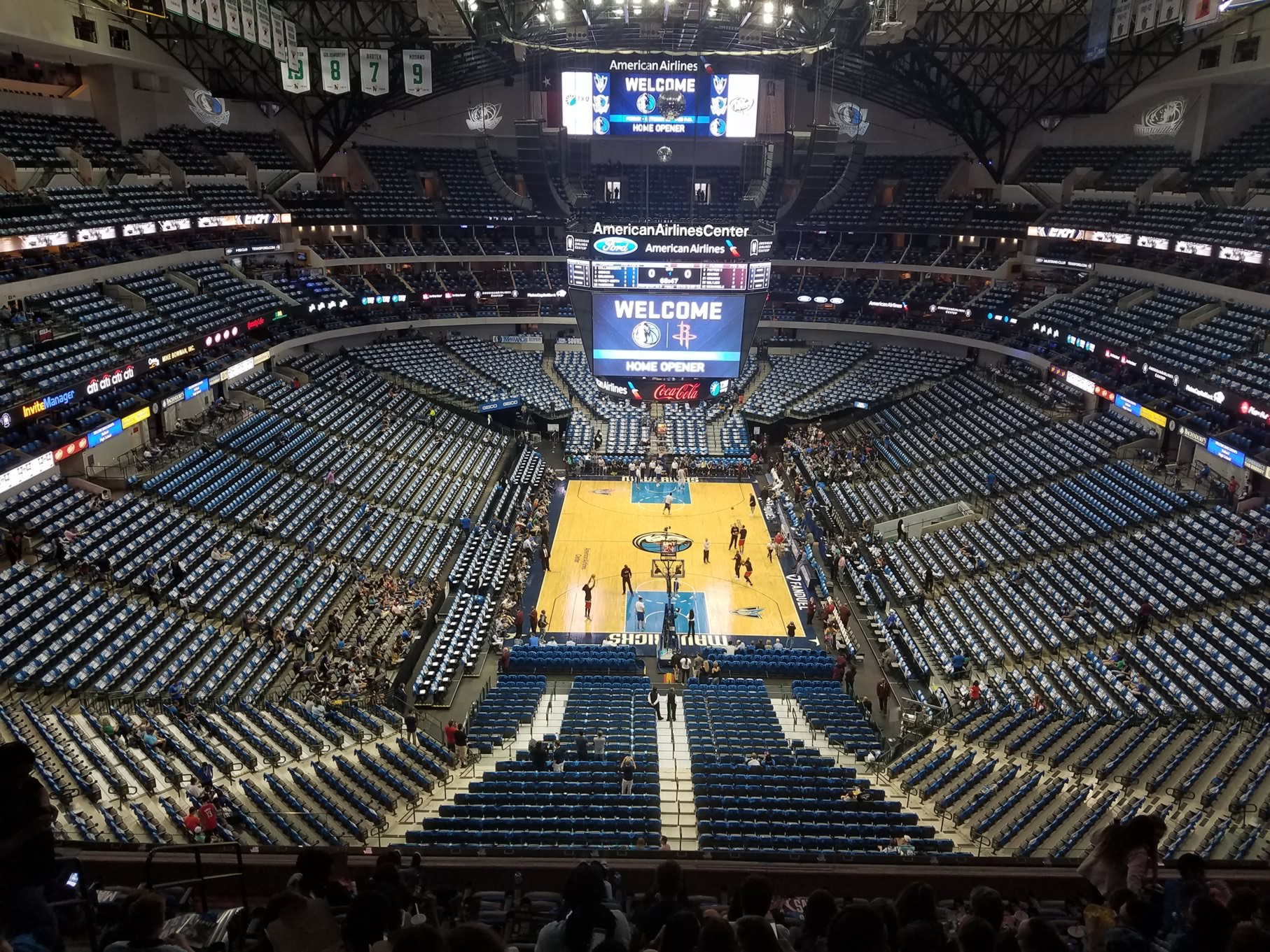Dallas Mavericks Seat View for American Airlines Center Section 301, Row G