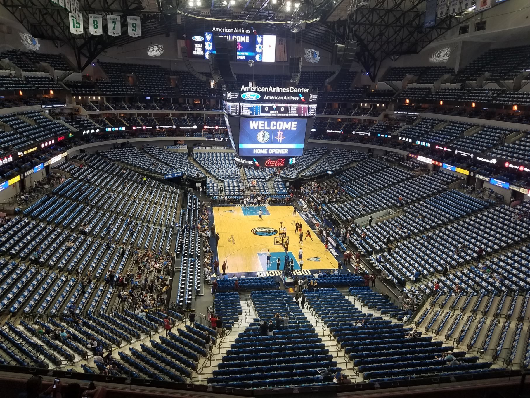 Dallas Mavericks Seat View for American Airlines Center Section 302, Row A