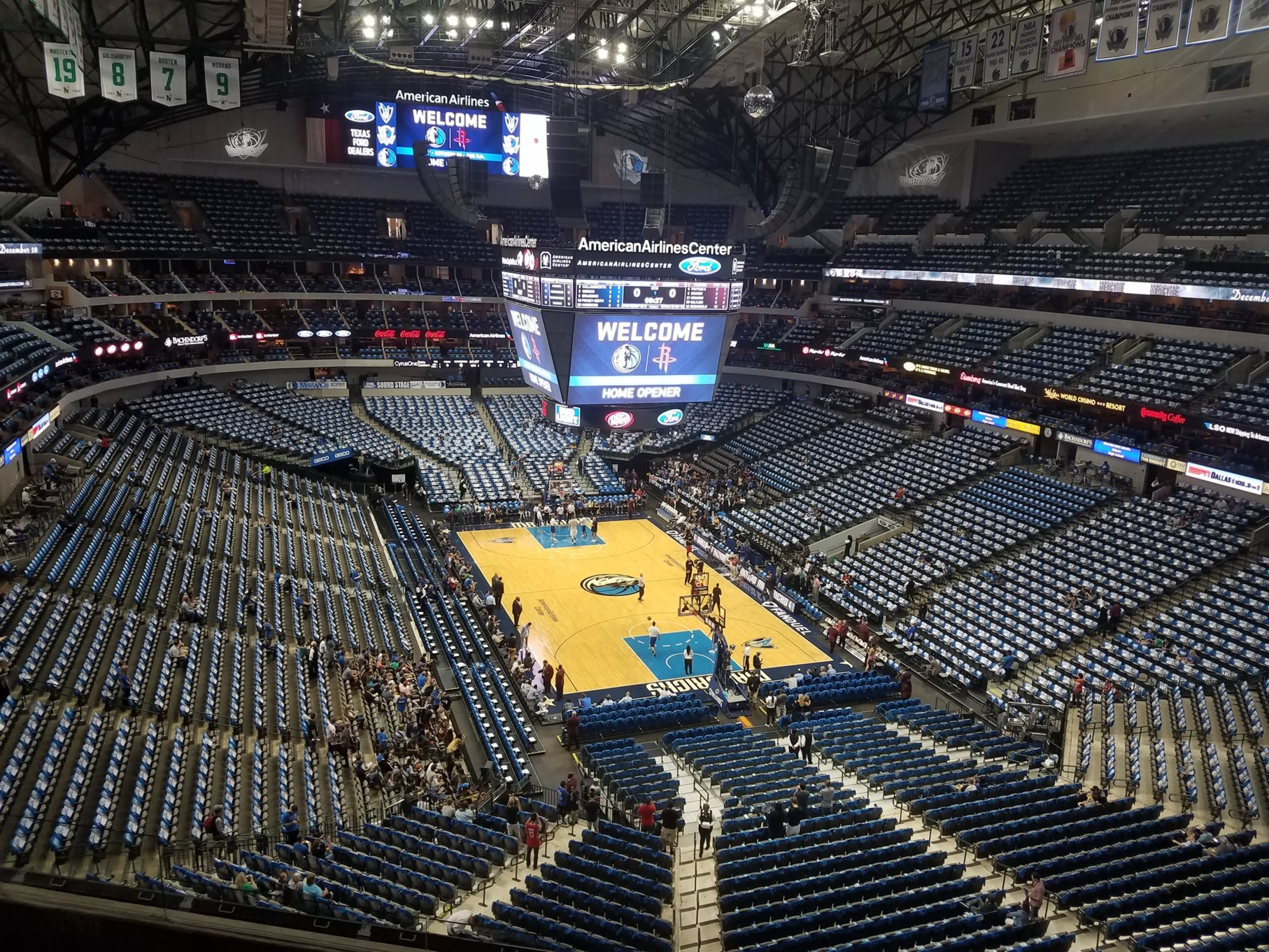 Dallas Mavericks Seat View for American Airlines Center Section 303, Row A