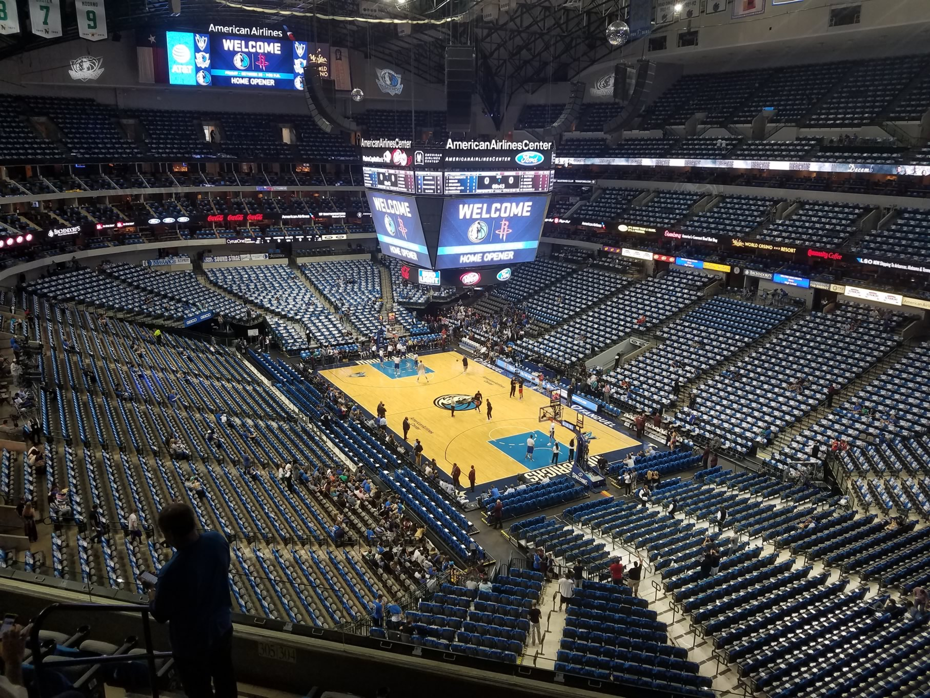 Dallas Mavericks Seat View for American Airlines Center Section 304, Row A