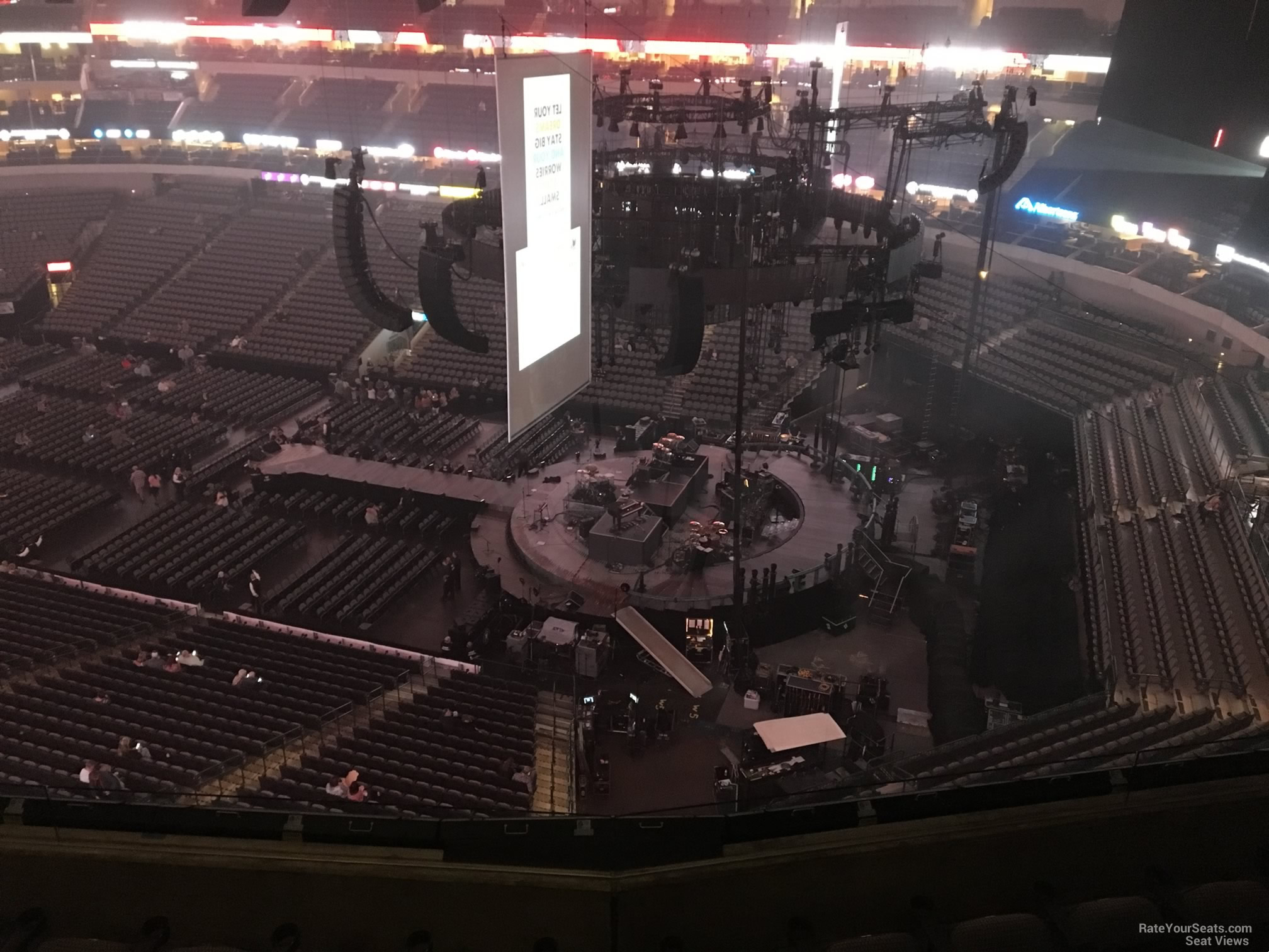 Concert Seat View for American Airlines Center Section 306, Row E