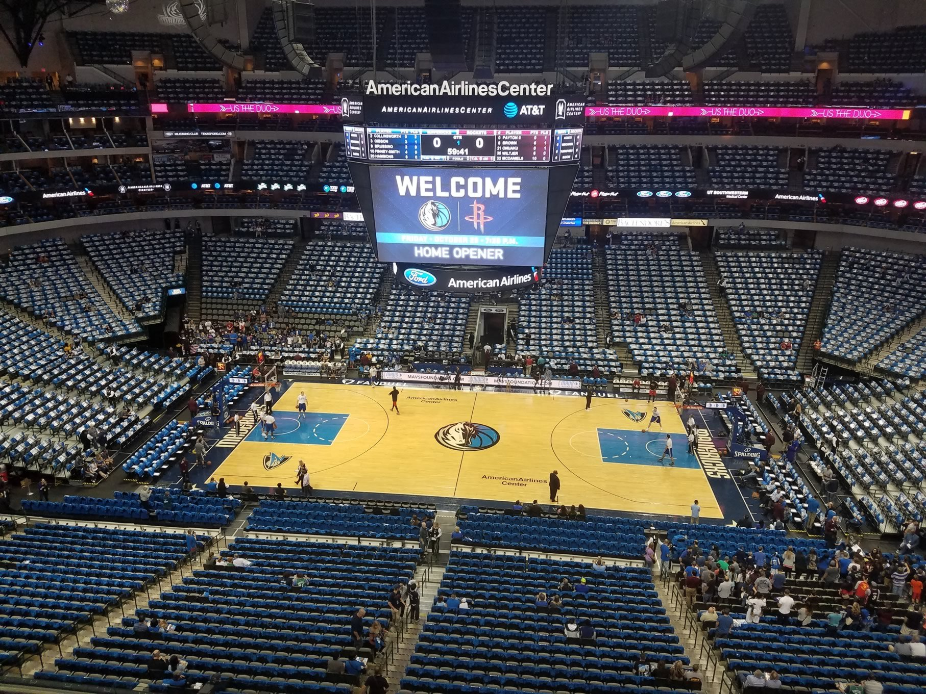 Dallas Mavericks Seat View for American Airlines Center Section 309, Row A