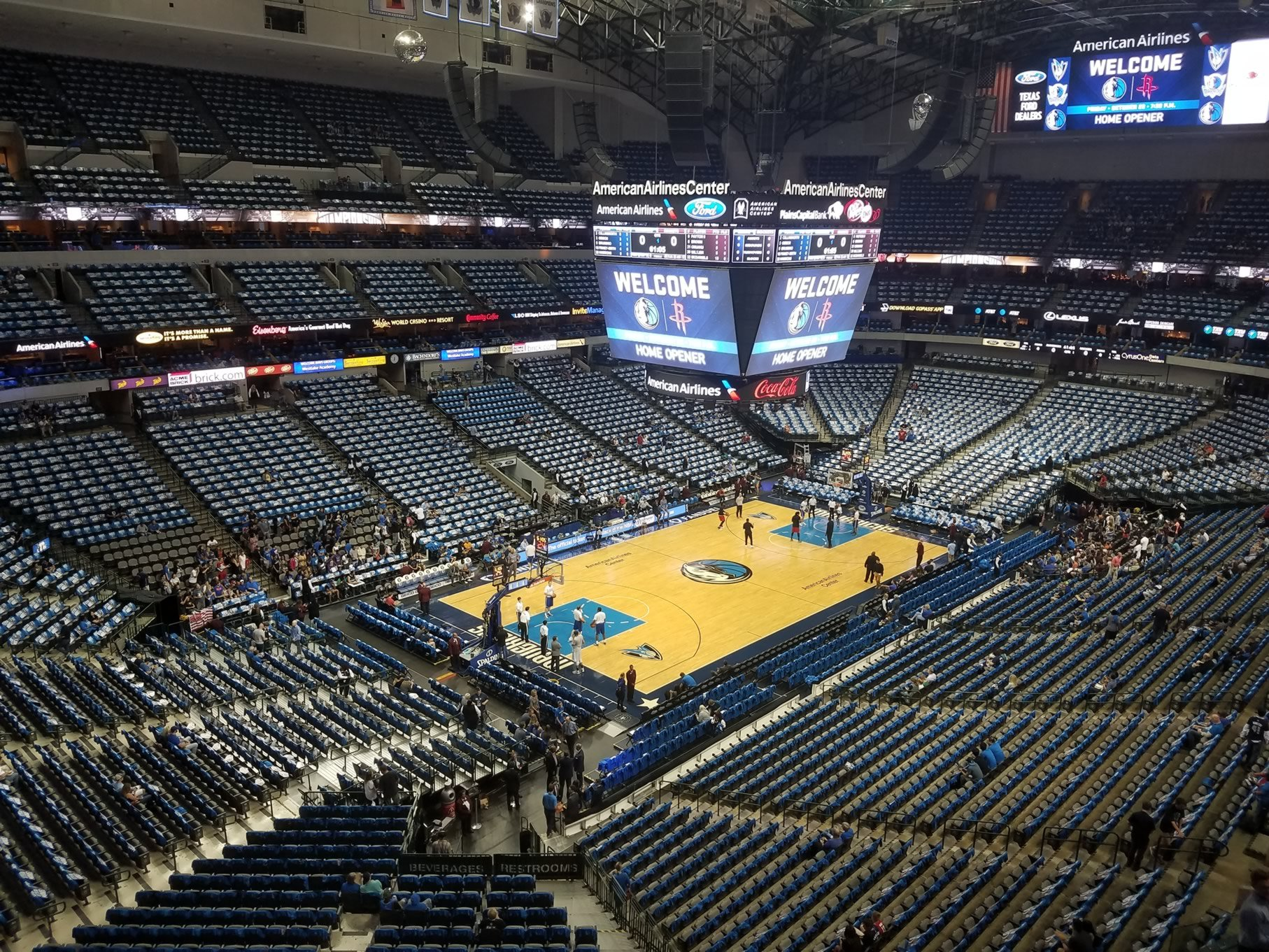 Dallas Mavericks Seat View for American Airlines Center Section 314, Row A