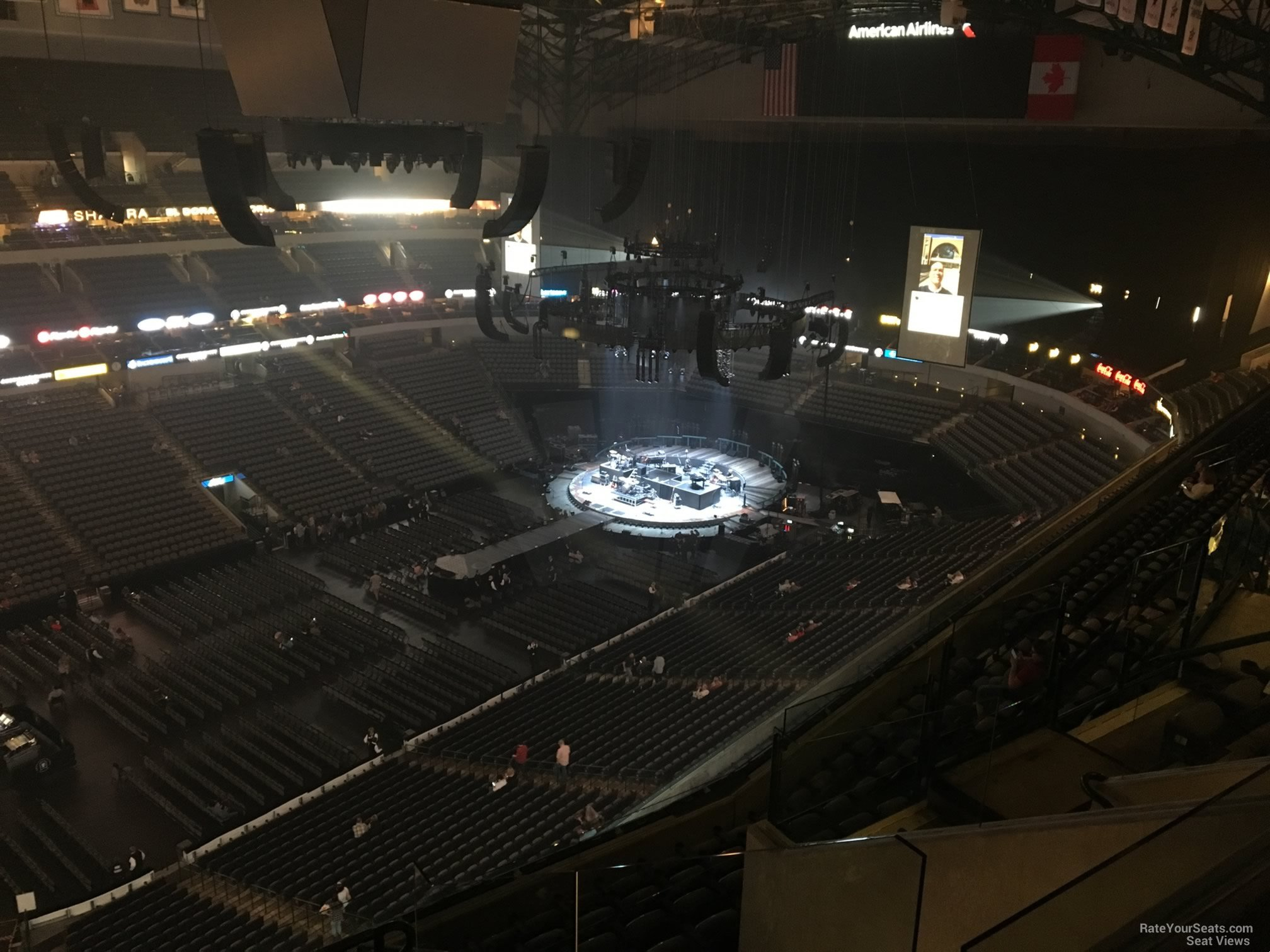 Concert Seat View for American Airlines Center Section 314, Row K