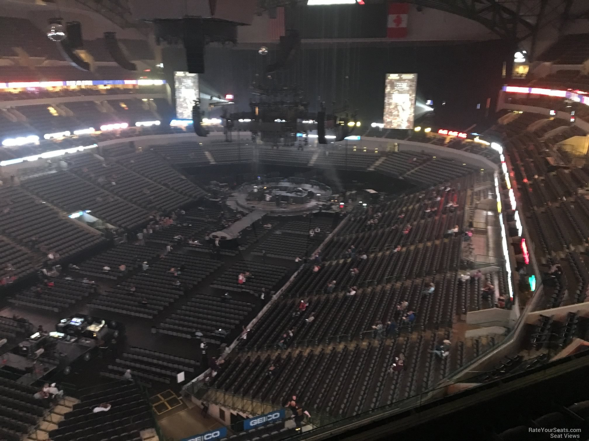 Concert Seat View for American Airlines Center Section 315, Row E