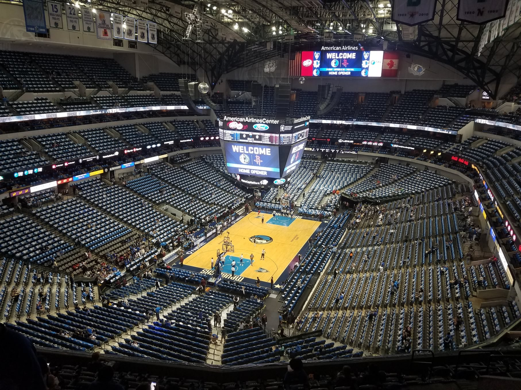 Dallas Mavericks Seat View for American Airlines Center Section 316, Row K