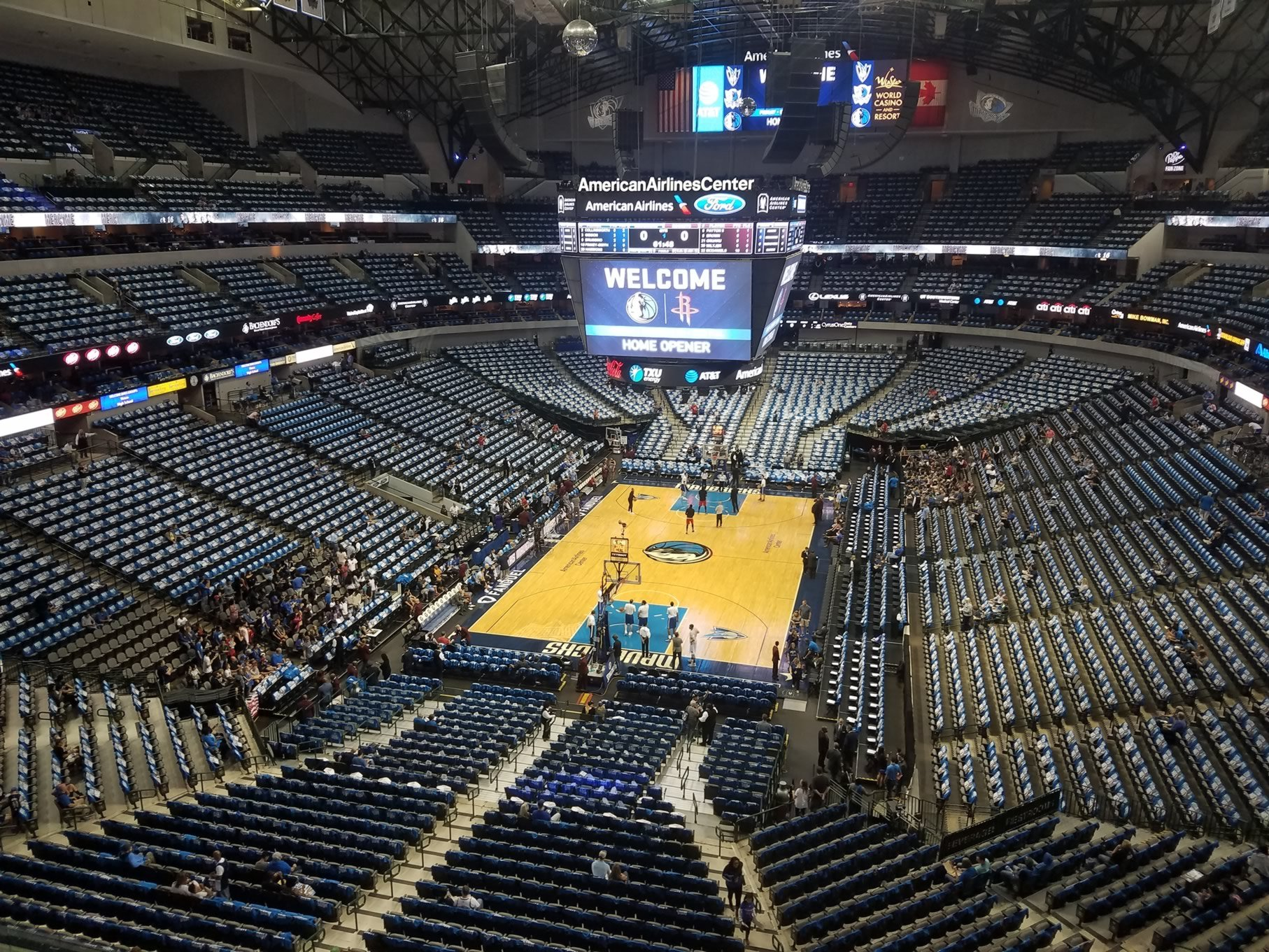Dallas Mavericks Seat View for American Airlines Center Section 317, Row A