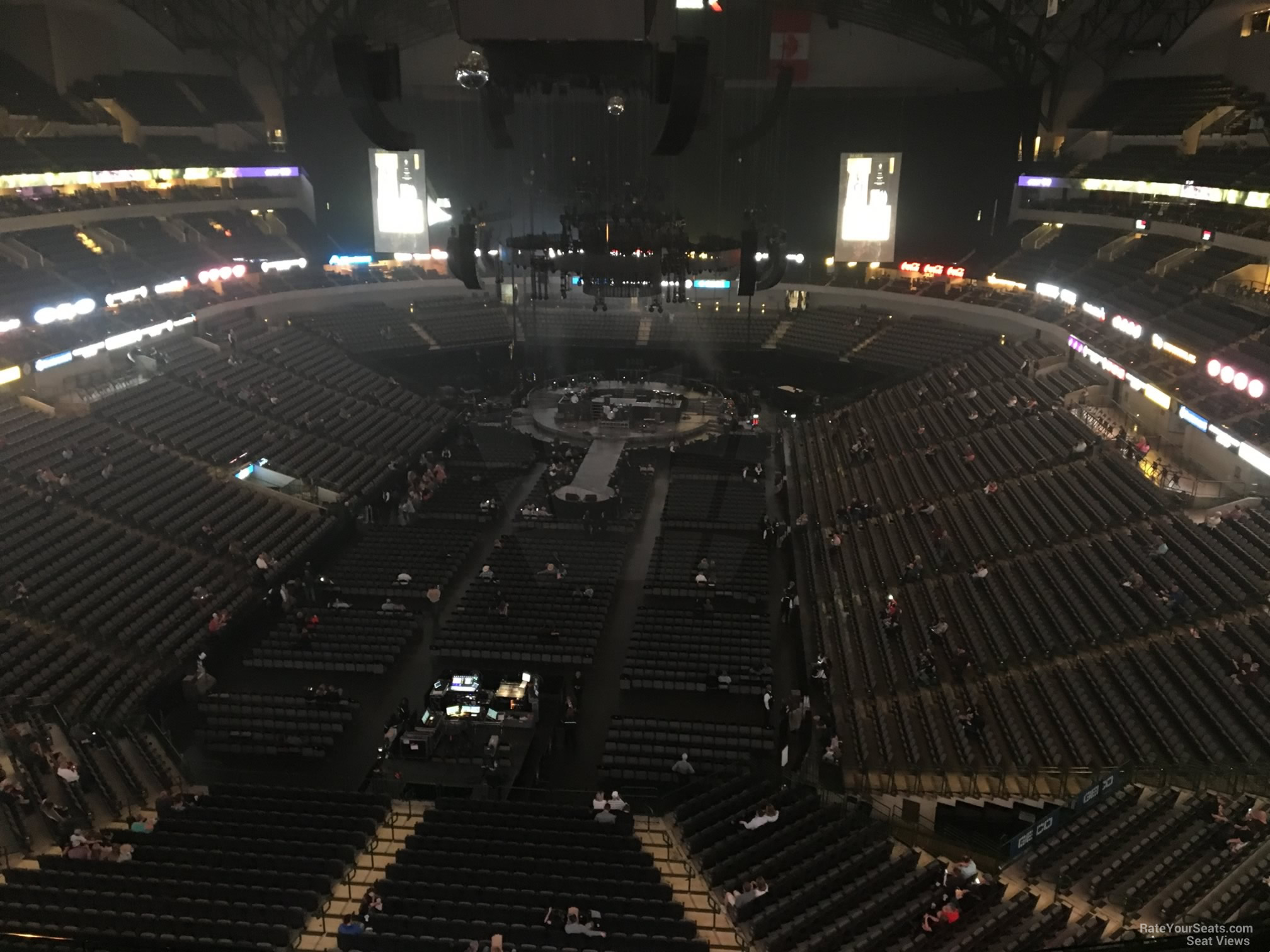Concert Seat View for American Airlines Center Section 317, Row E