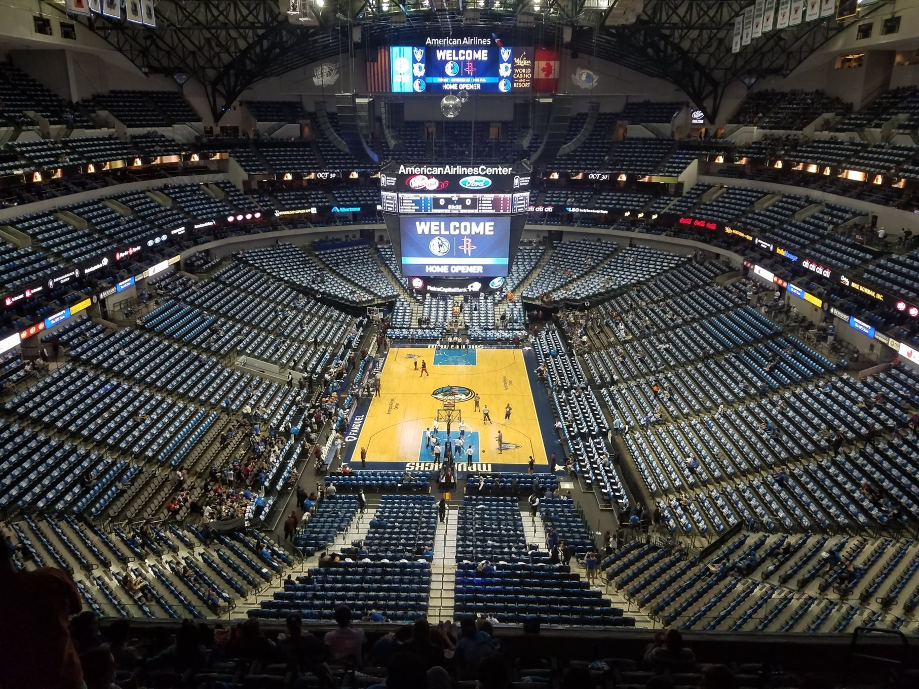 American Airlines Center Section 318 Dallas Mavericks