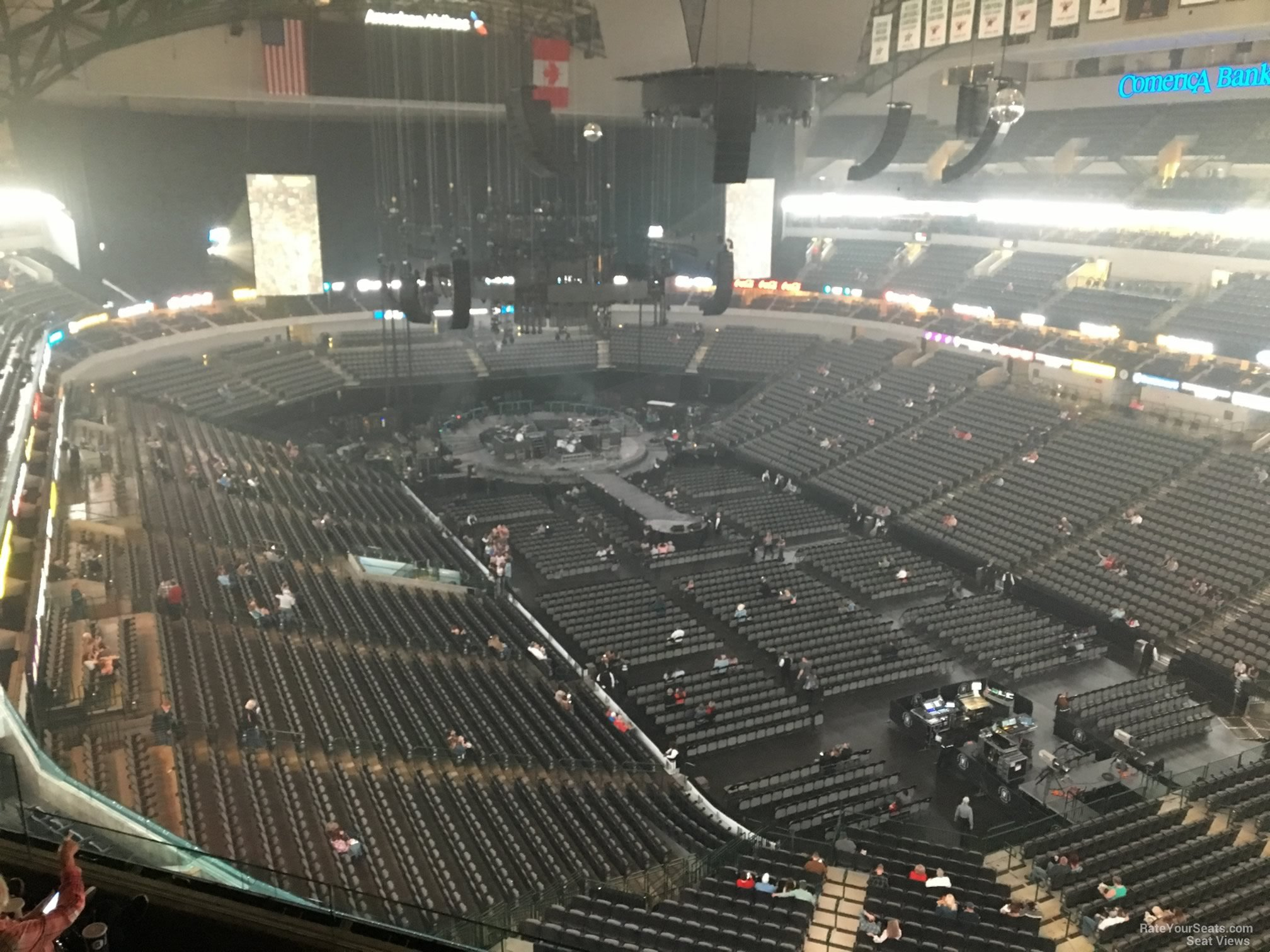 Concert Seat View for American Airlines Center Section 321, Row E