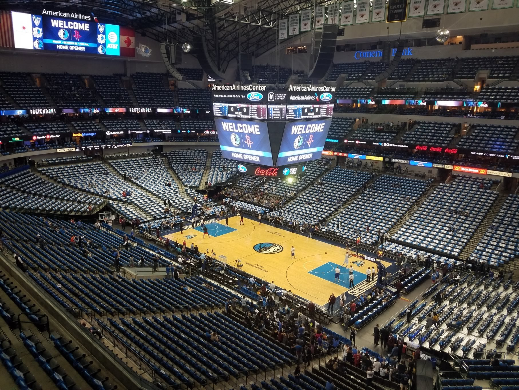 Dallas Mavericks Seat View for American Airlines Center Section 323, Row A
