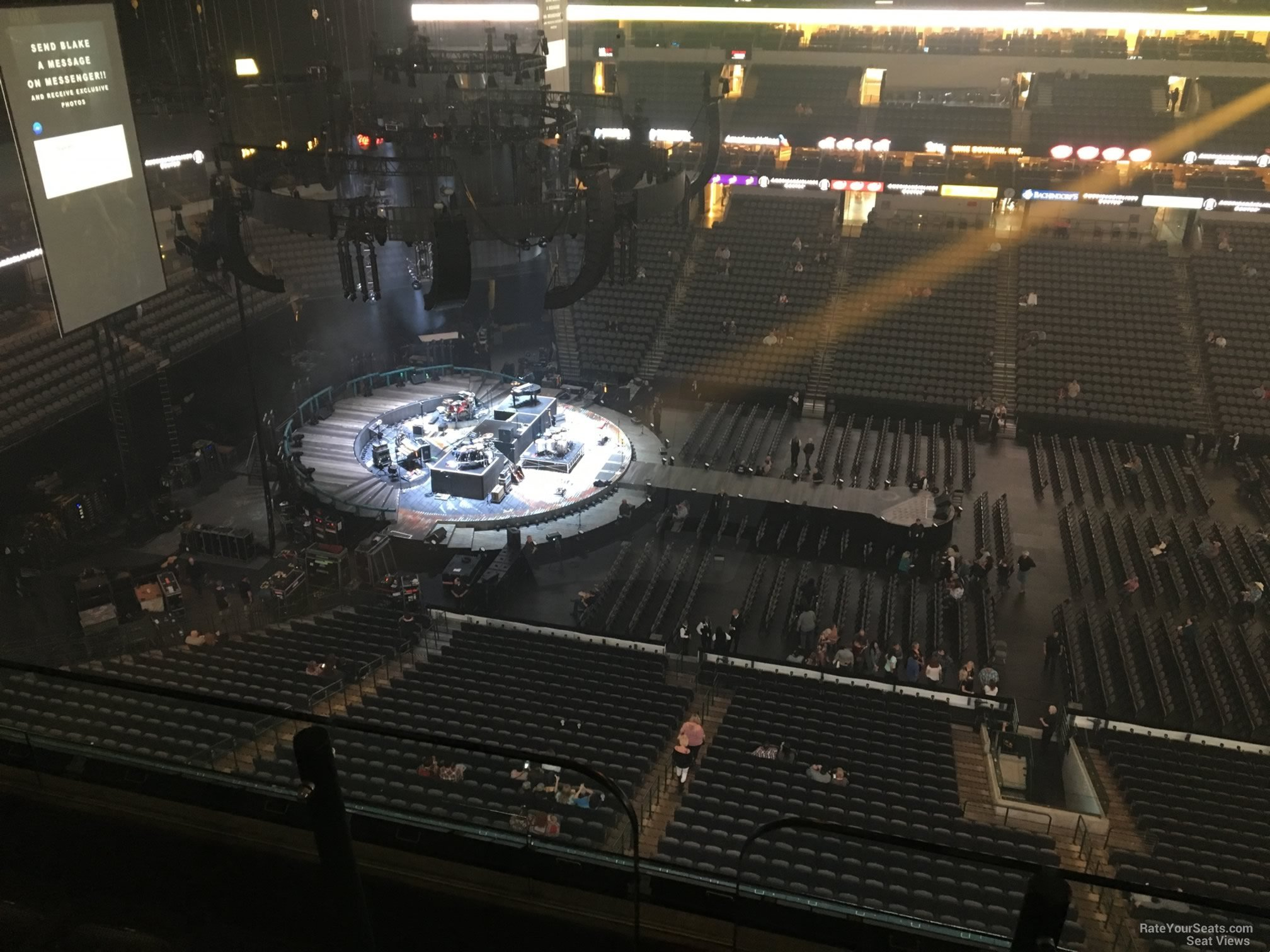 Concert Seat View for American Airlines Center Section 327, Row E
