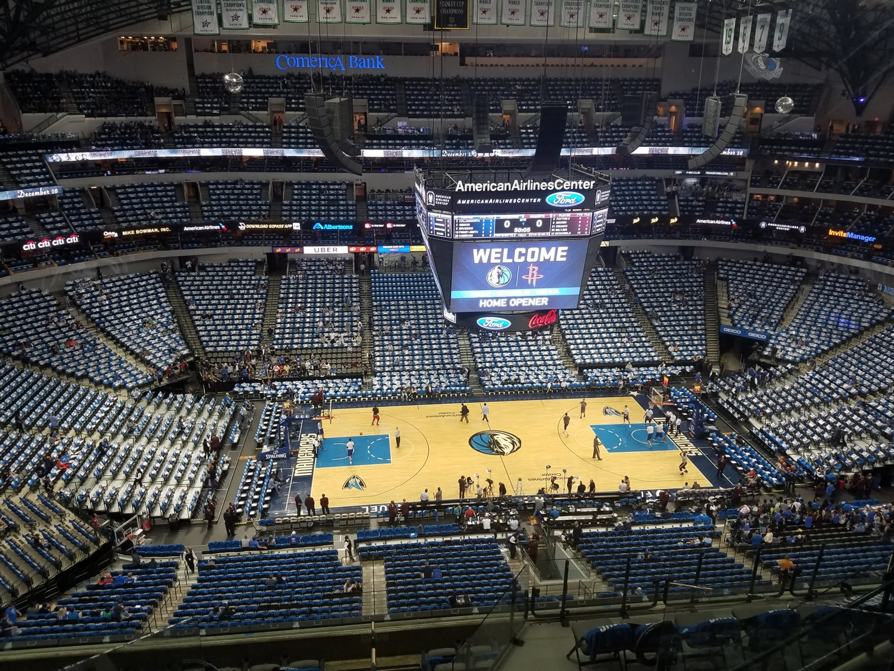 American Airlines Center Section 327 Dallas Mavericks