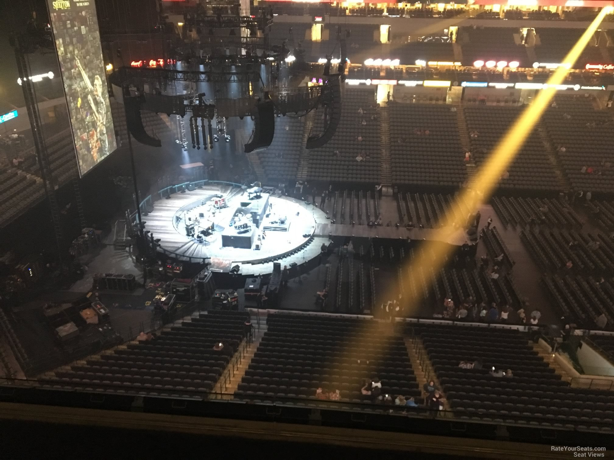Concert Seat View for American Airlines Center Section 328, Row E