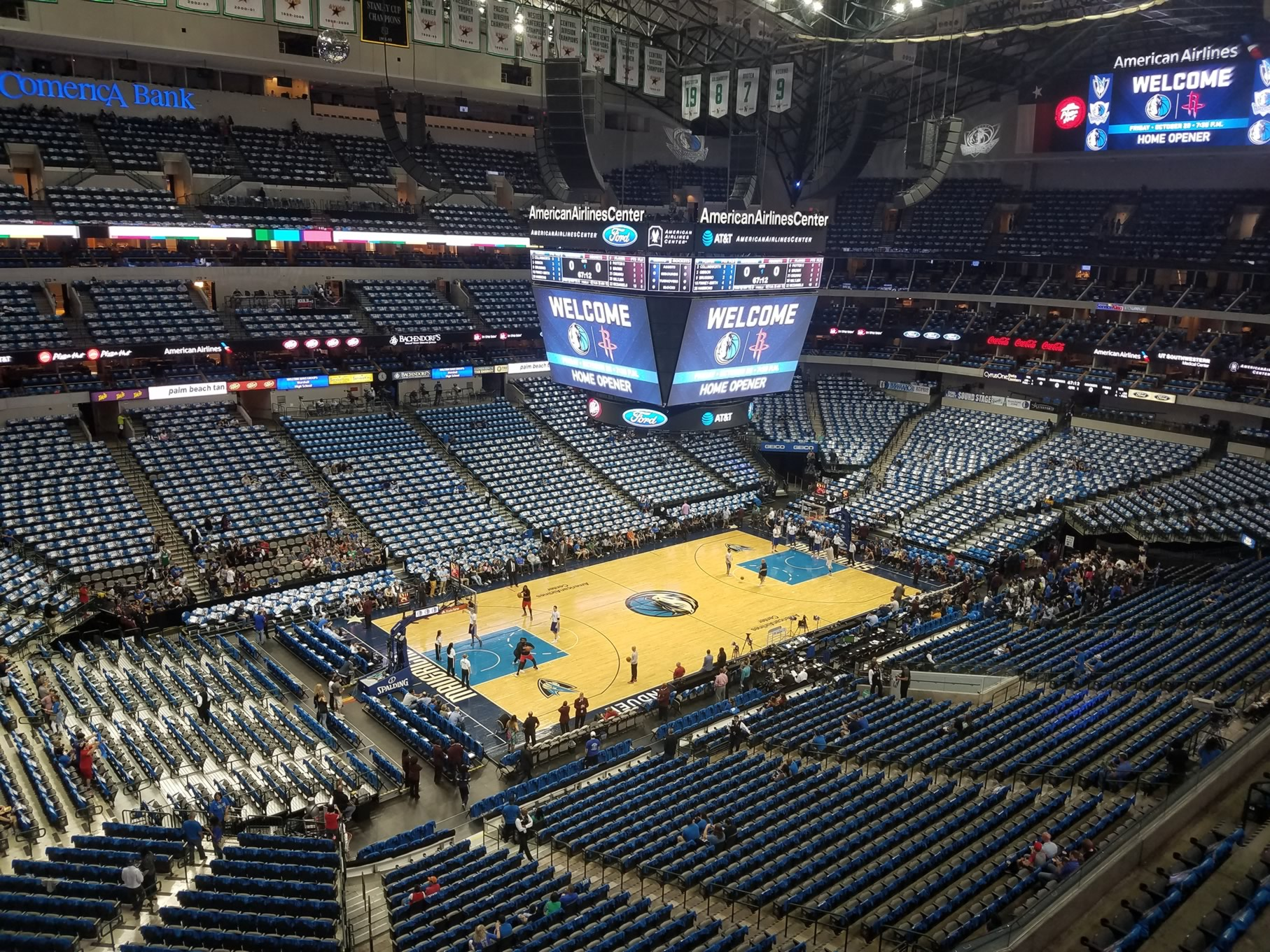 Dallas Mavericks Seat View for American Airlines Center Section 330, Row A