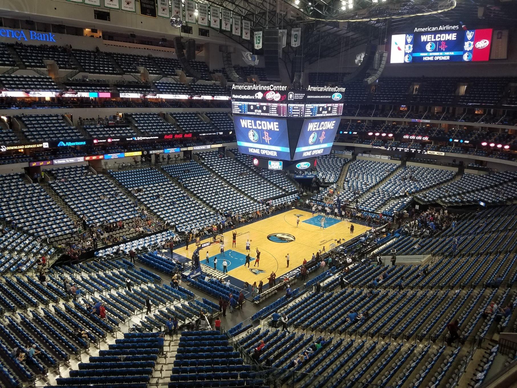 American Airlines Center Section 331 - Dallas Mavericks ...