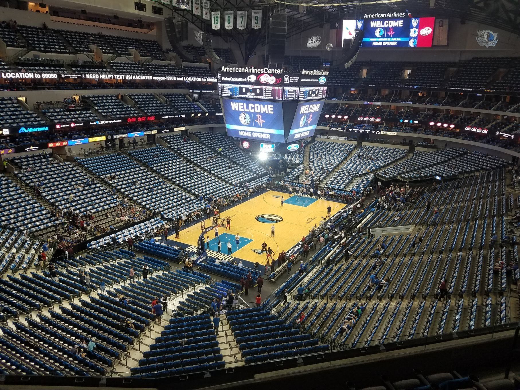 Dallas Mavericks Seat View for American Airlines Center Section 332, Row A