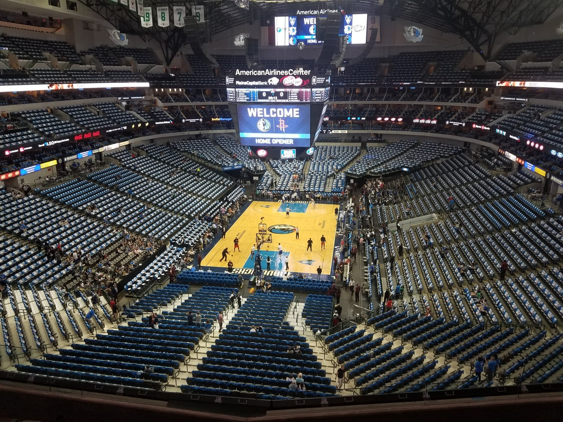 Dallas Mavericks Seat View for American Airlines Center Section 334, Row A