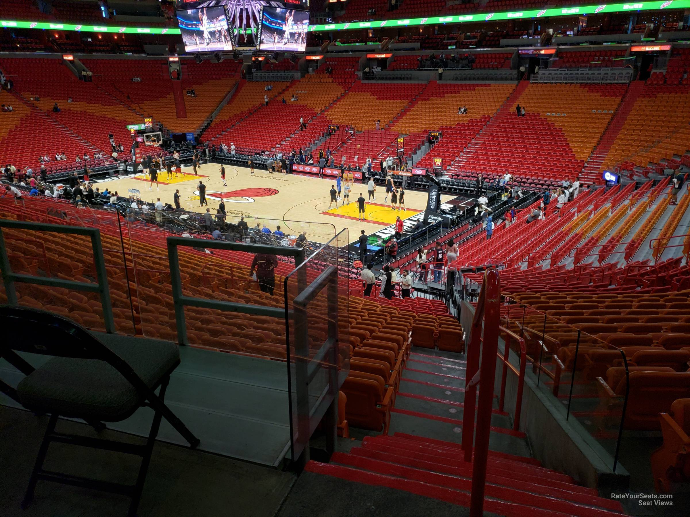 Seat View for AmericanAirlines Arena Section 104, Row 23