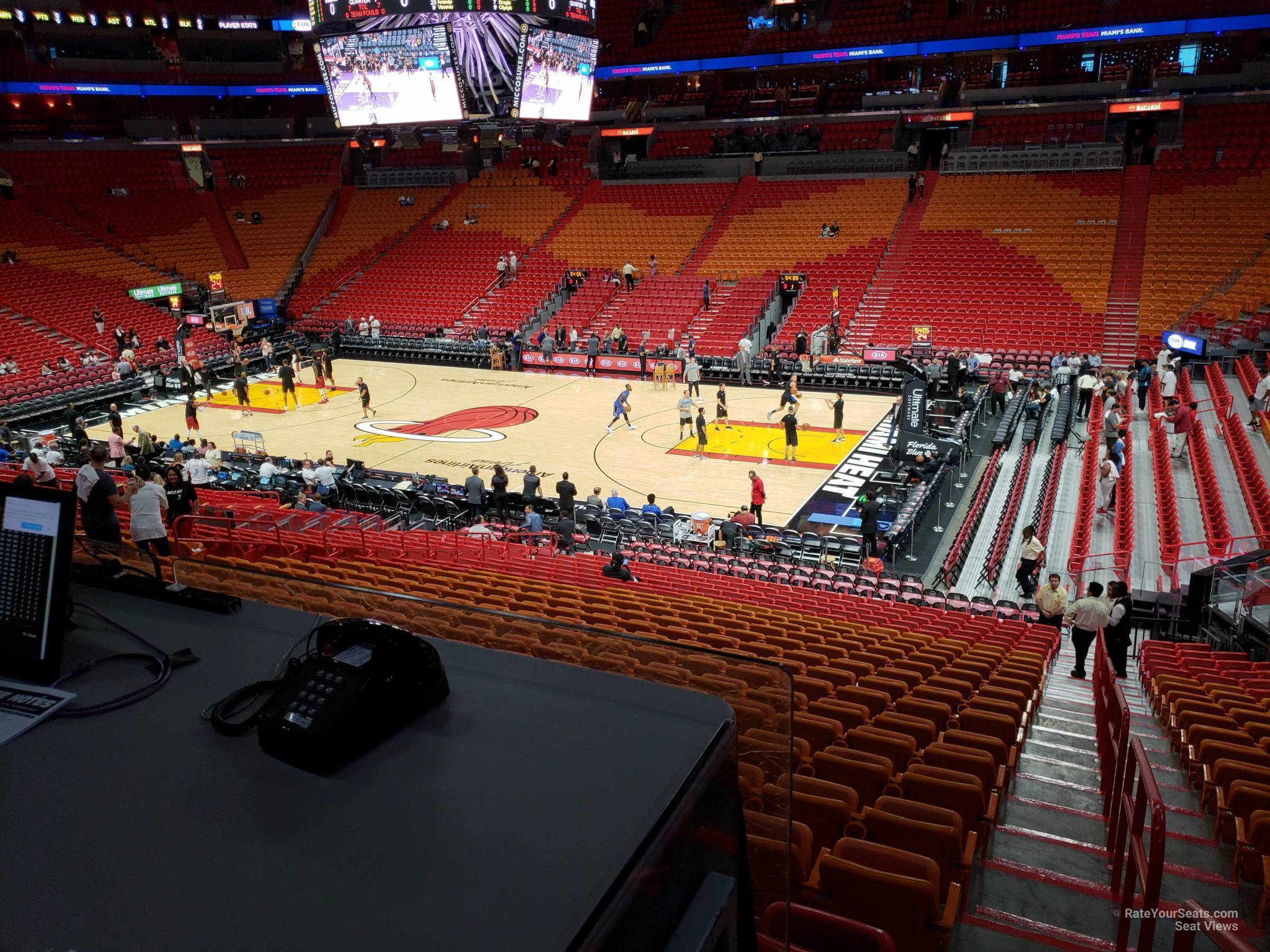 Seat View for AmericanAirlines Arena Section 105, Row 23