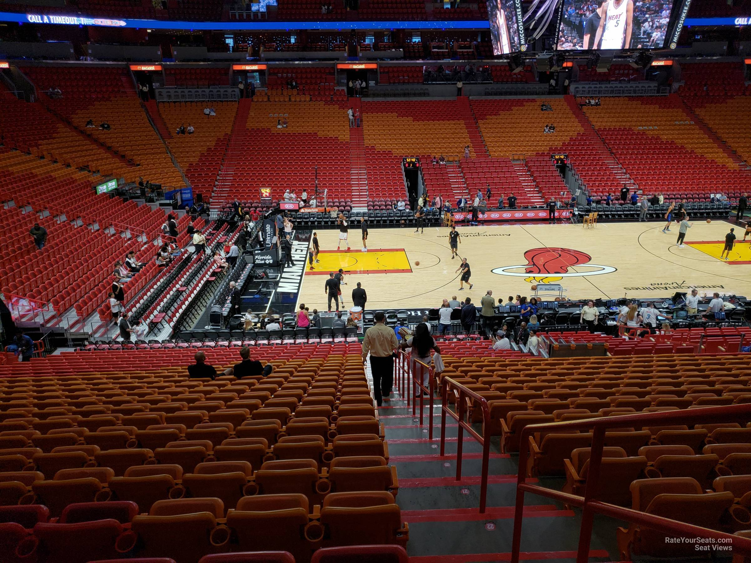 Americanairlines Arena Section 108 Miami Heat