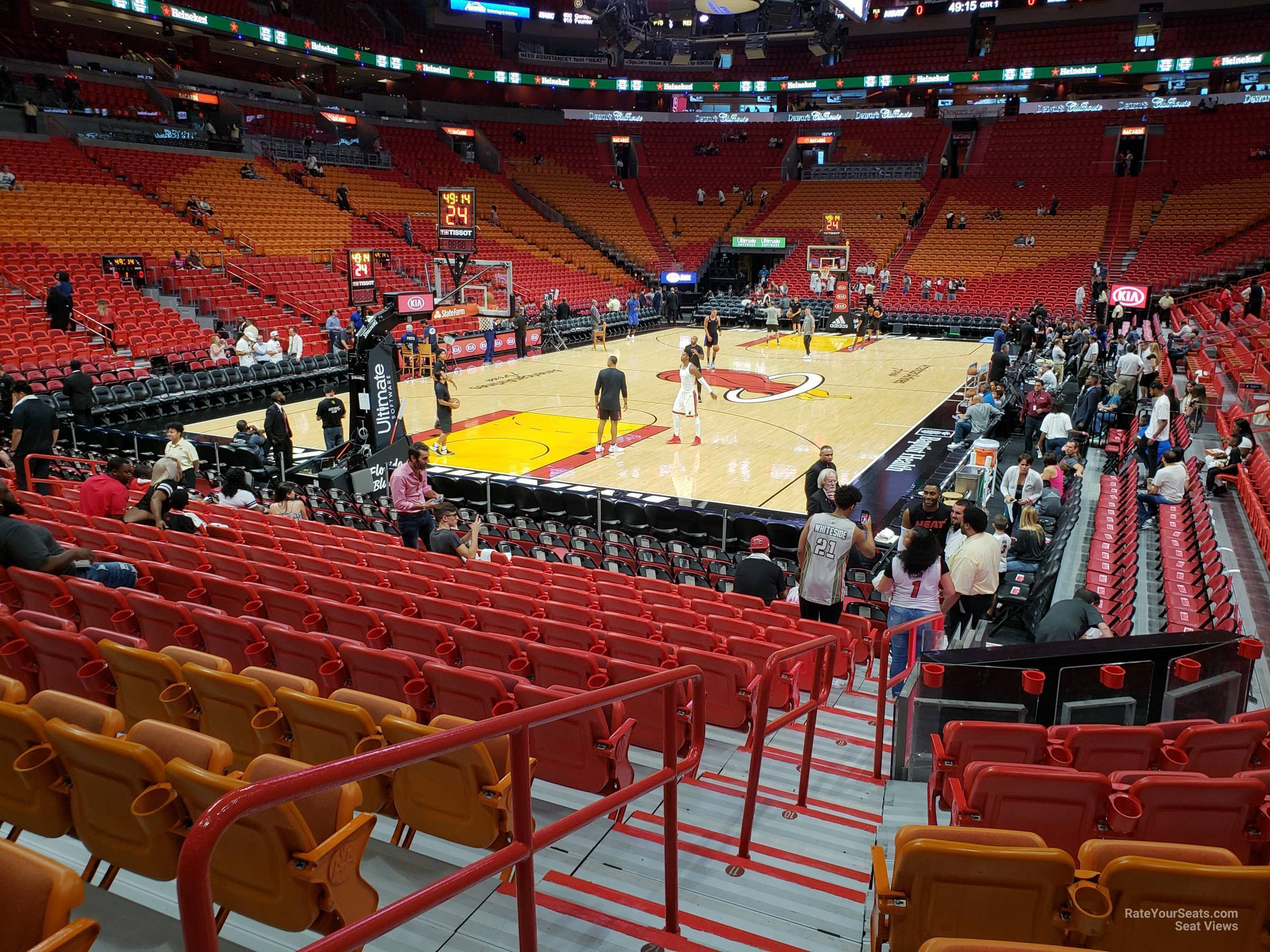 Americanairlines Arena Section 111 Miami Heat
