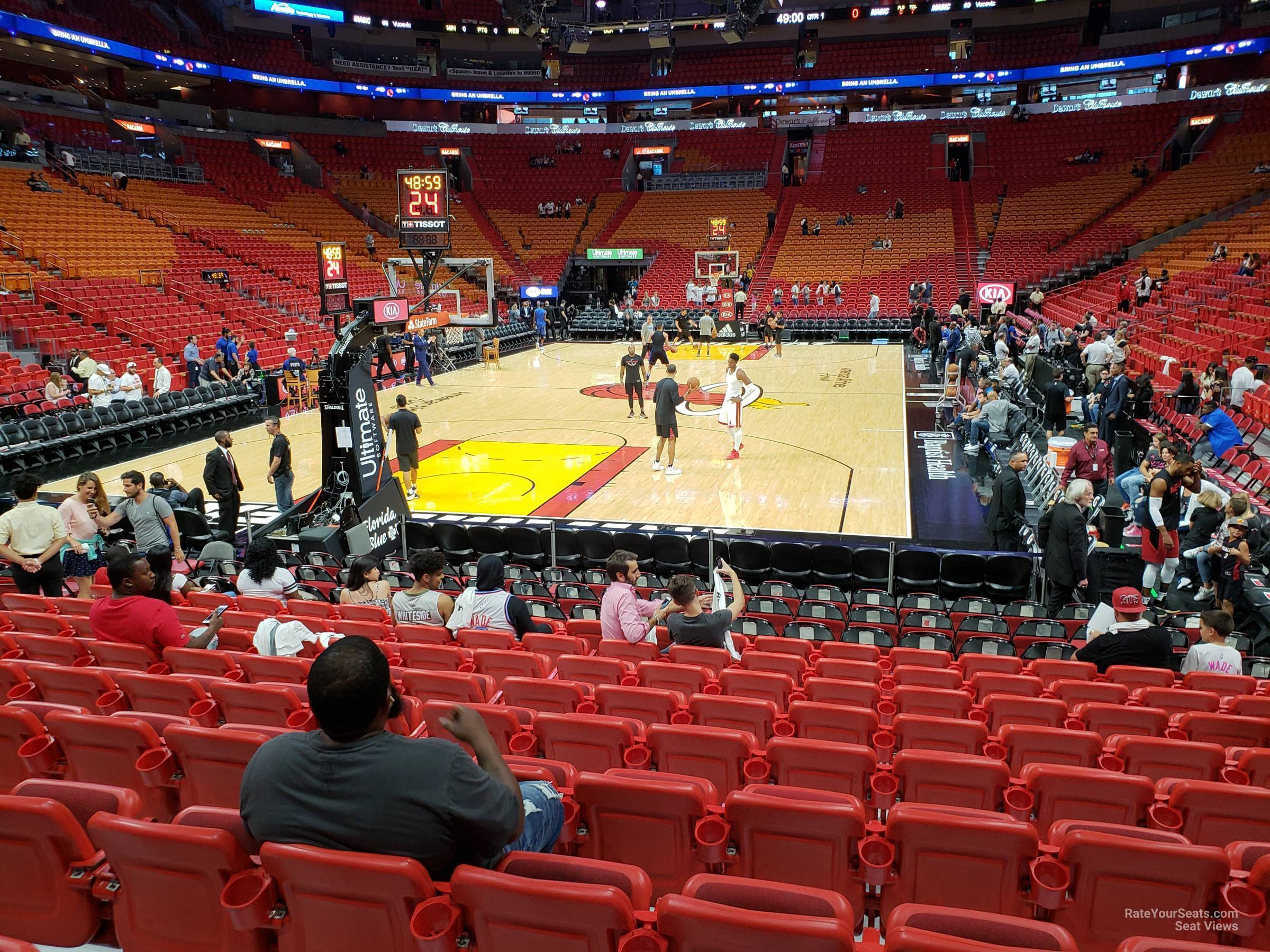 Seat View for AmericanAirlines Arena Section 112, Row 15