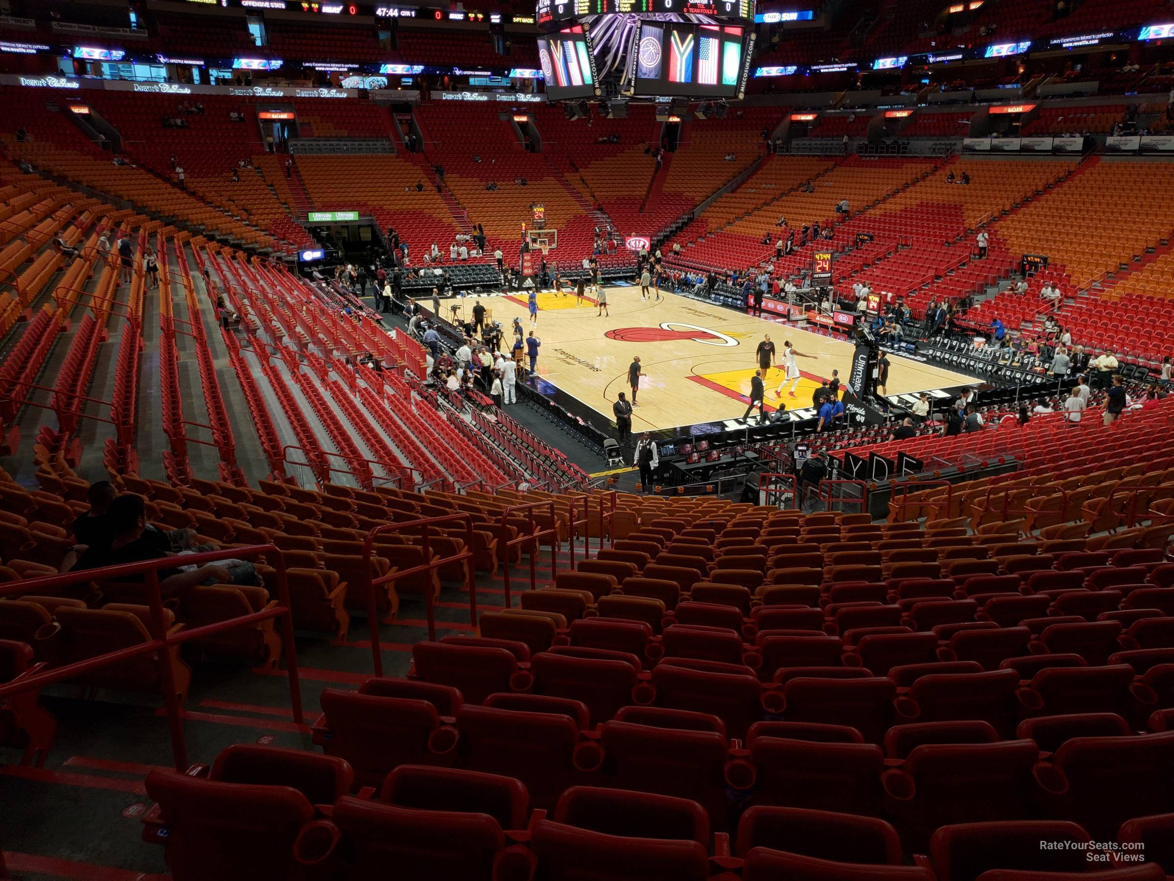 Americanairlines Arena Section 114 Miami Heat