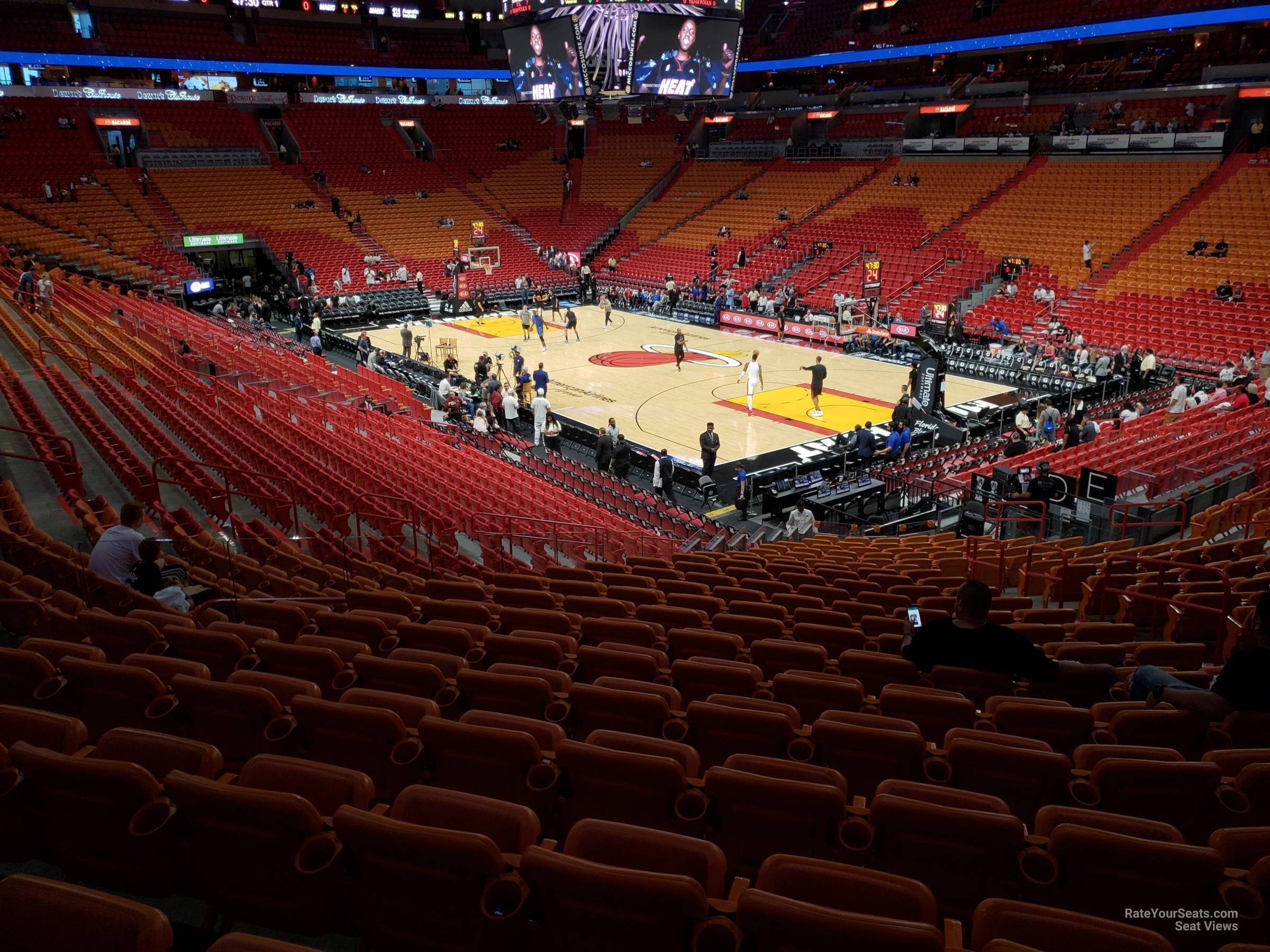 Seat View for AmericanAirlines Arena Section 115, Row 29