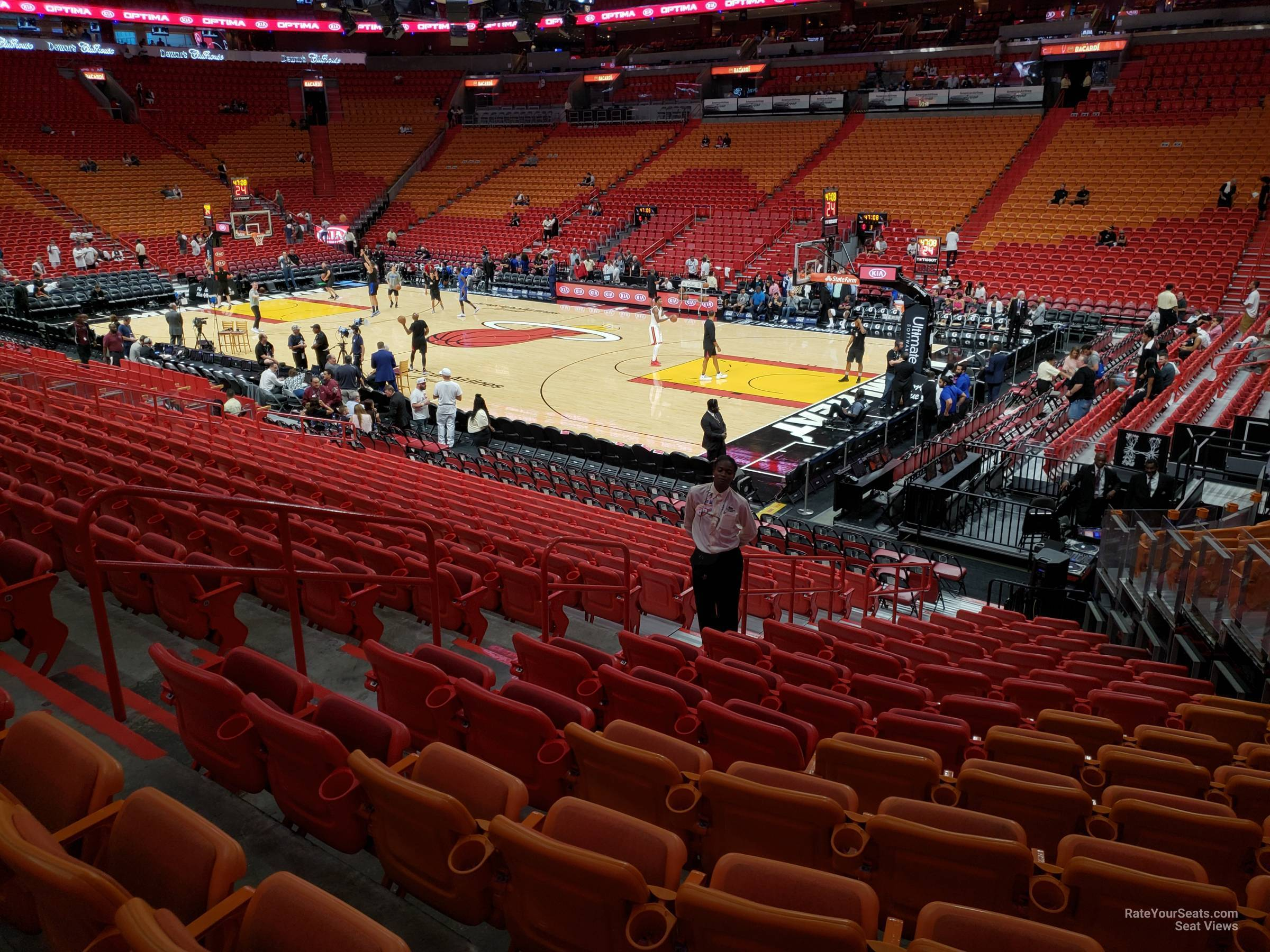 Seat View for AmericanAirlines Arena Section 116, Row 17